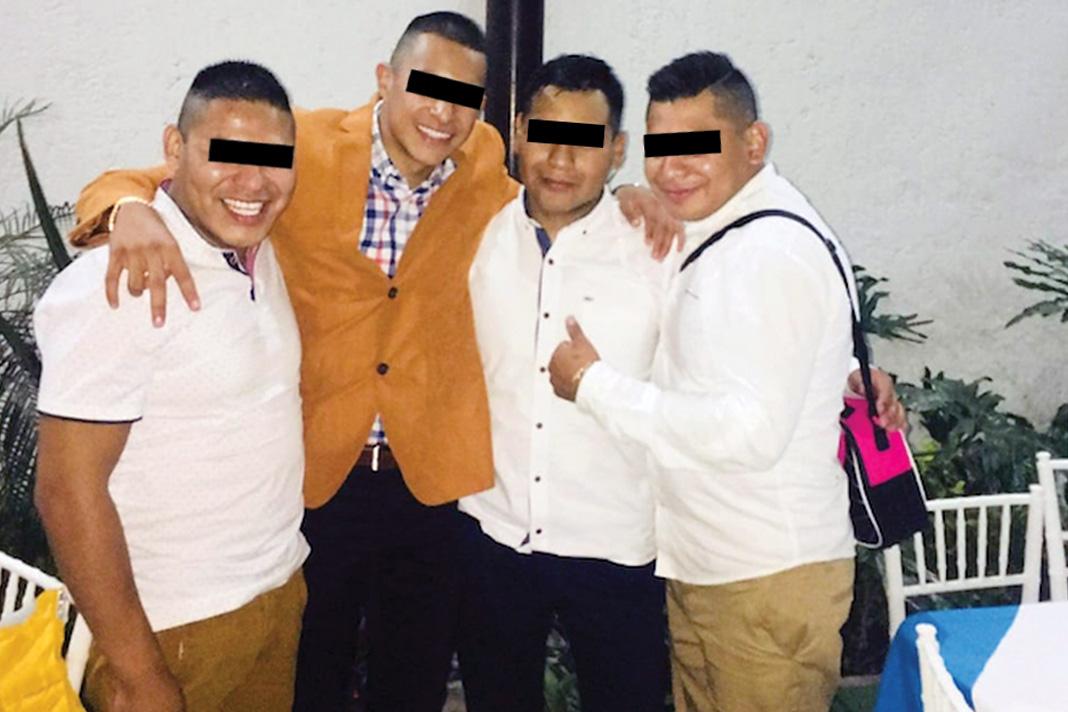 """El presunto homicida, identificado como Armando """"N"""", es el primero de izquierda a derecha."""