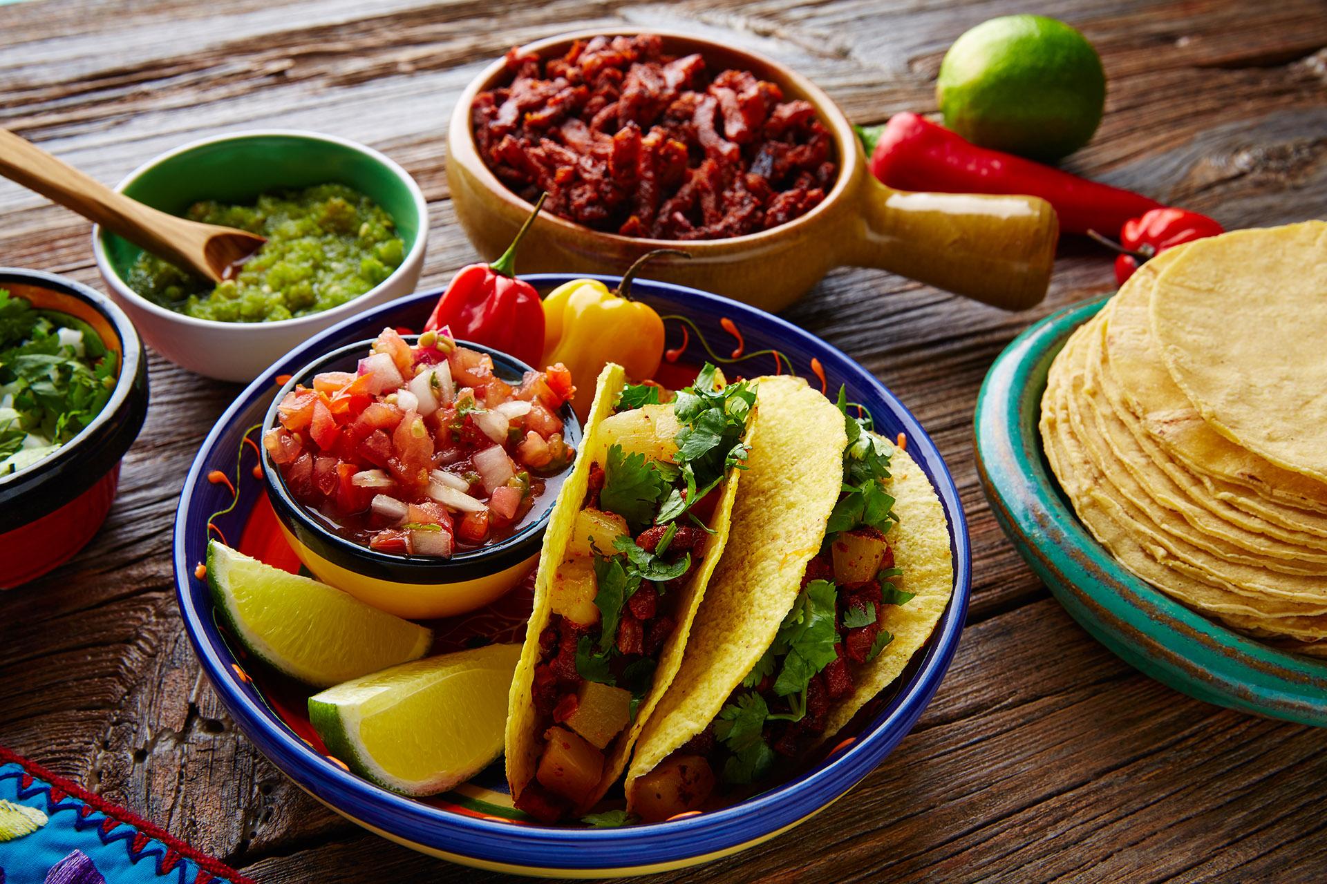 El taco mexicano, uno de los platillos más famosos.