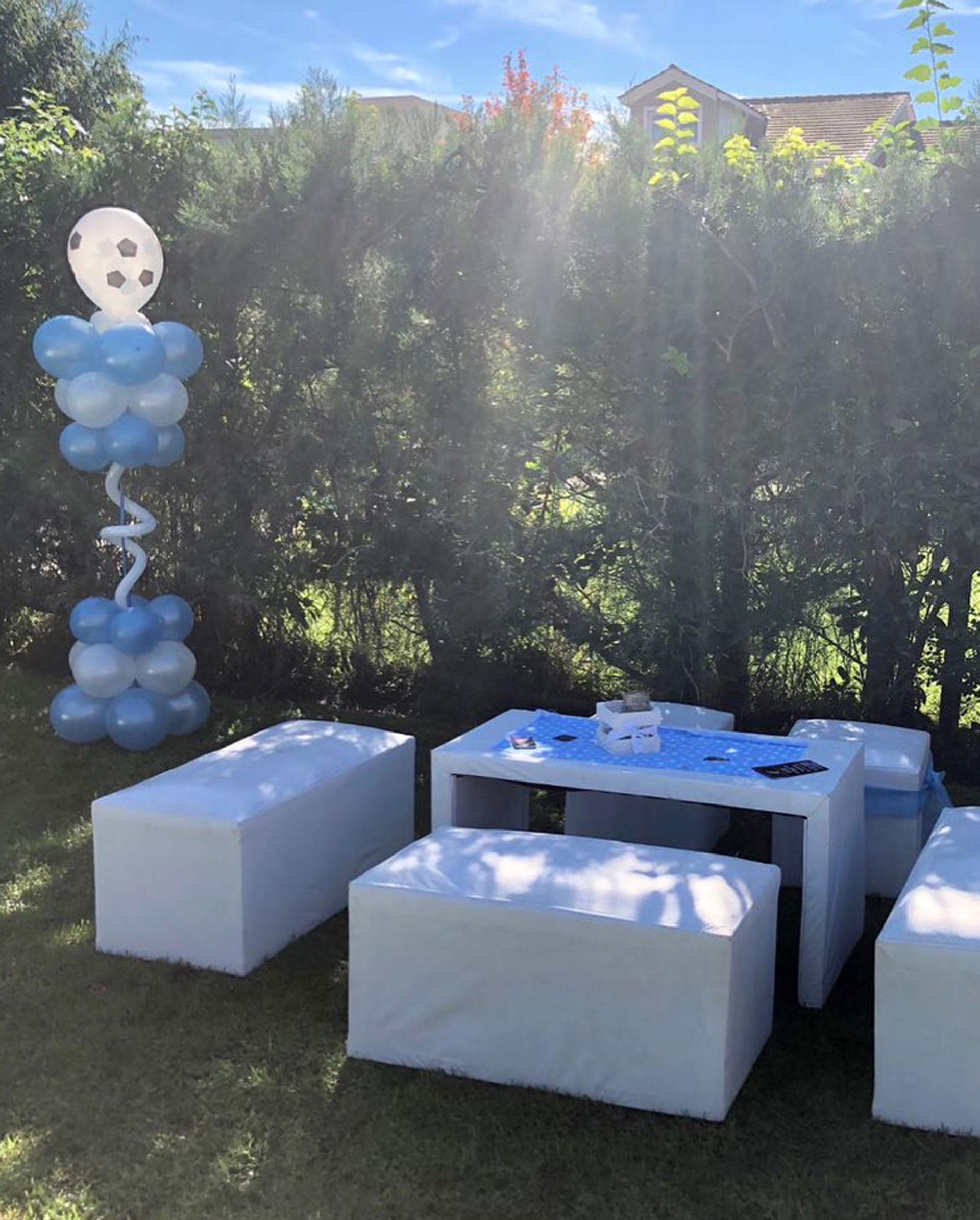 """El jardín fue decorado con una temática inspirada en el """"Mundial de Argentina"""", según explicó Ximena (Foto: Instagram)"""