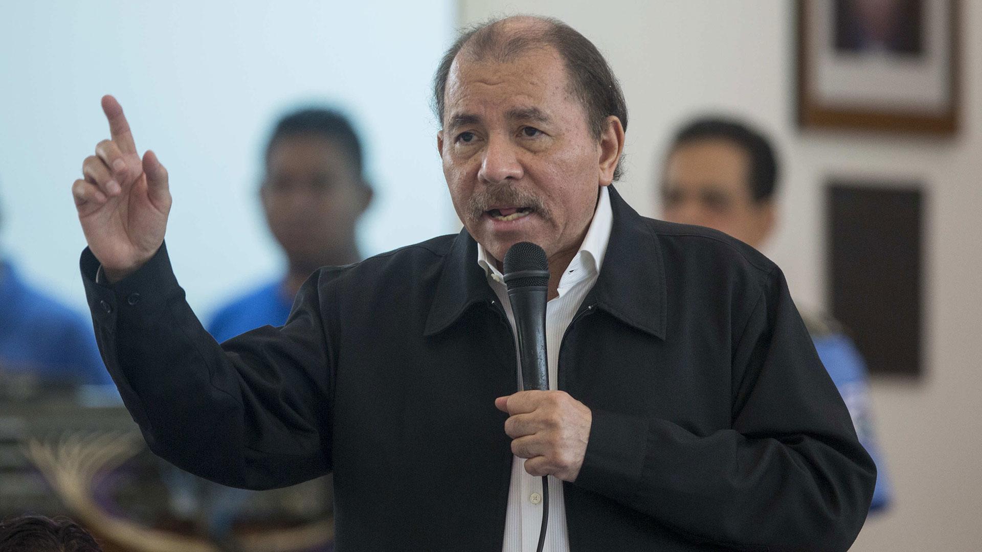Daniel Ortega durante el diálogo en Nicaragua (EFE)