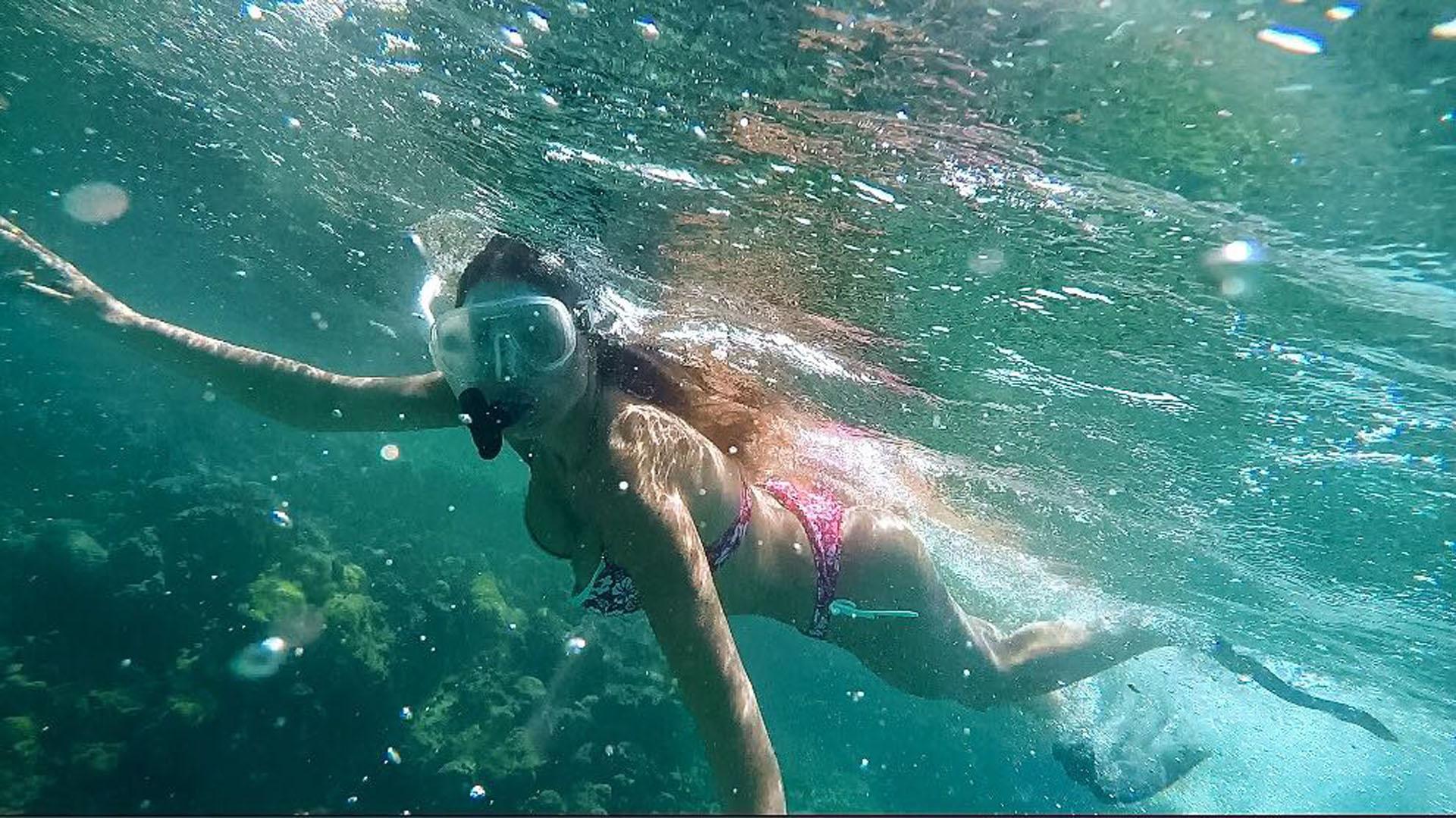 Guadalupe aprovechó sus días libres para hacer deportes acuáticos