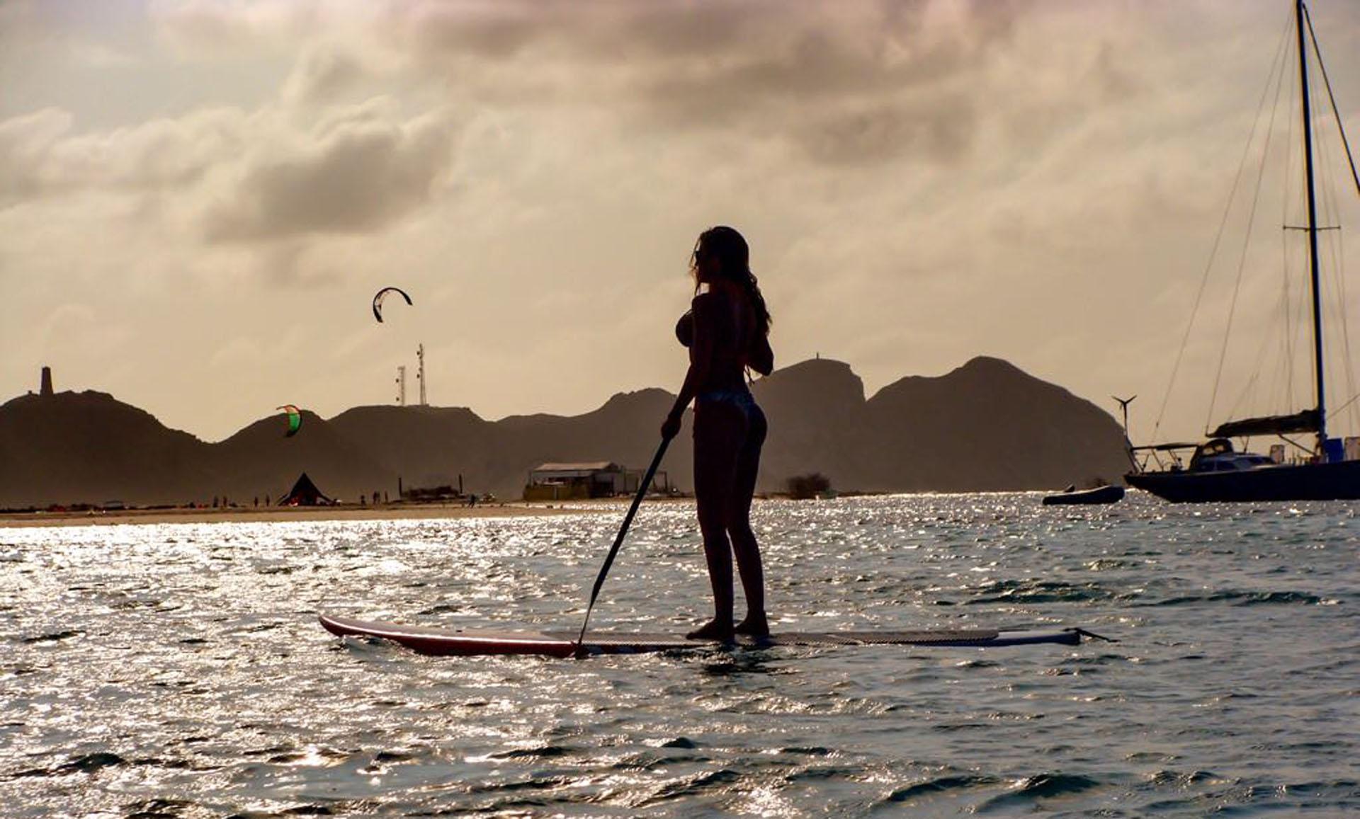 Como se puede ver en las fotos, Guadalupe es amante de los deportes acuáticos