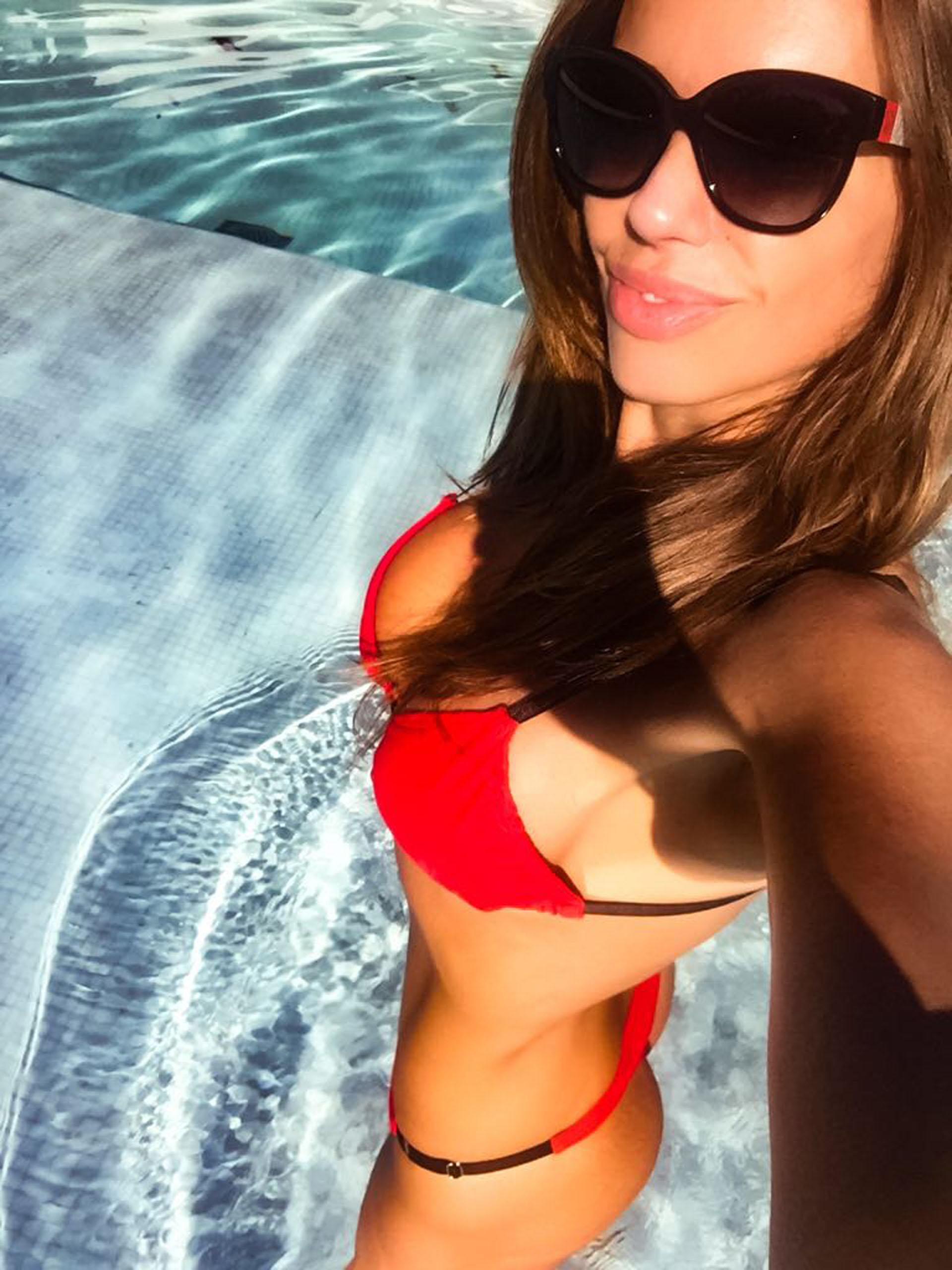 En su paso por México, Guadalupe aprovechó para disfrutar del sol y la playa