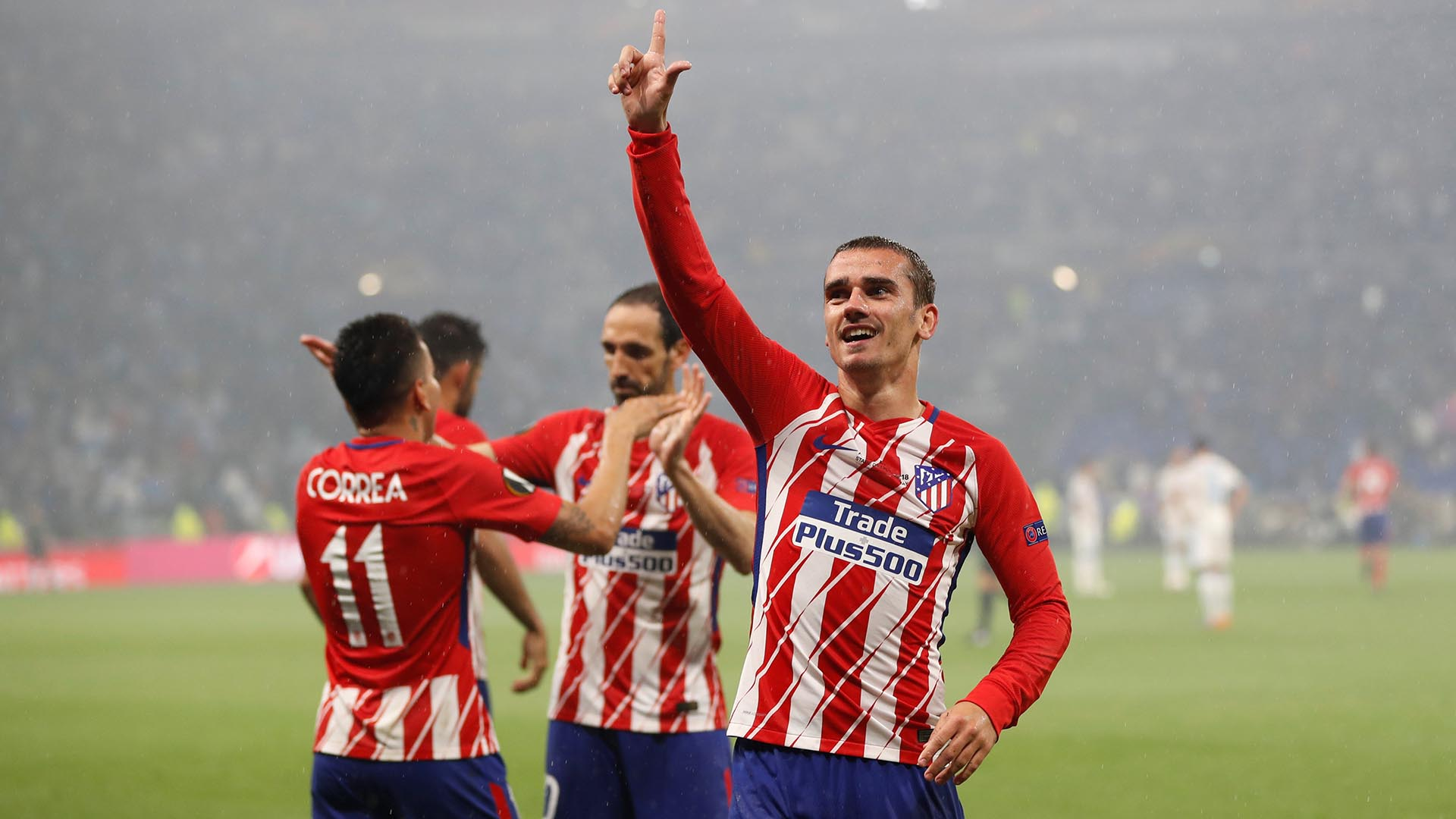 Antoine Griezmann fue una de las figuras del Atlético Madrid en la final de la Europa League ante Olympique Marsella (Reuters)