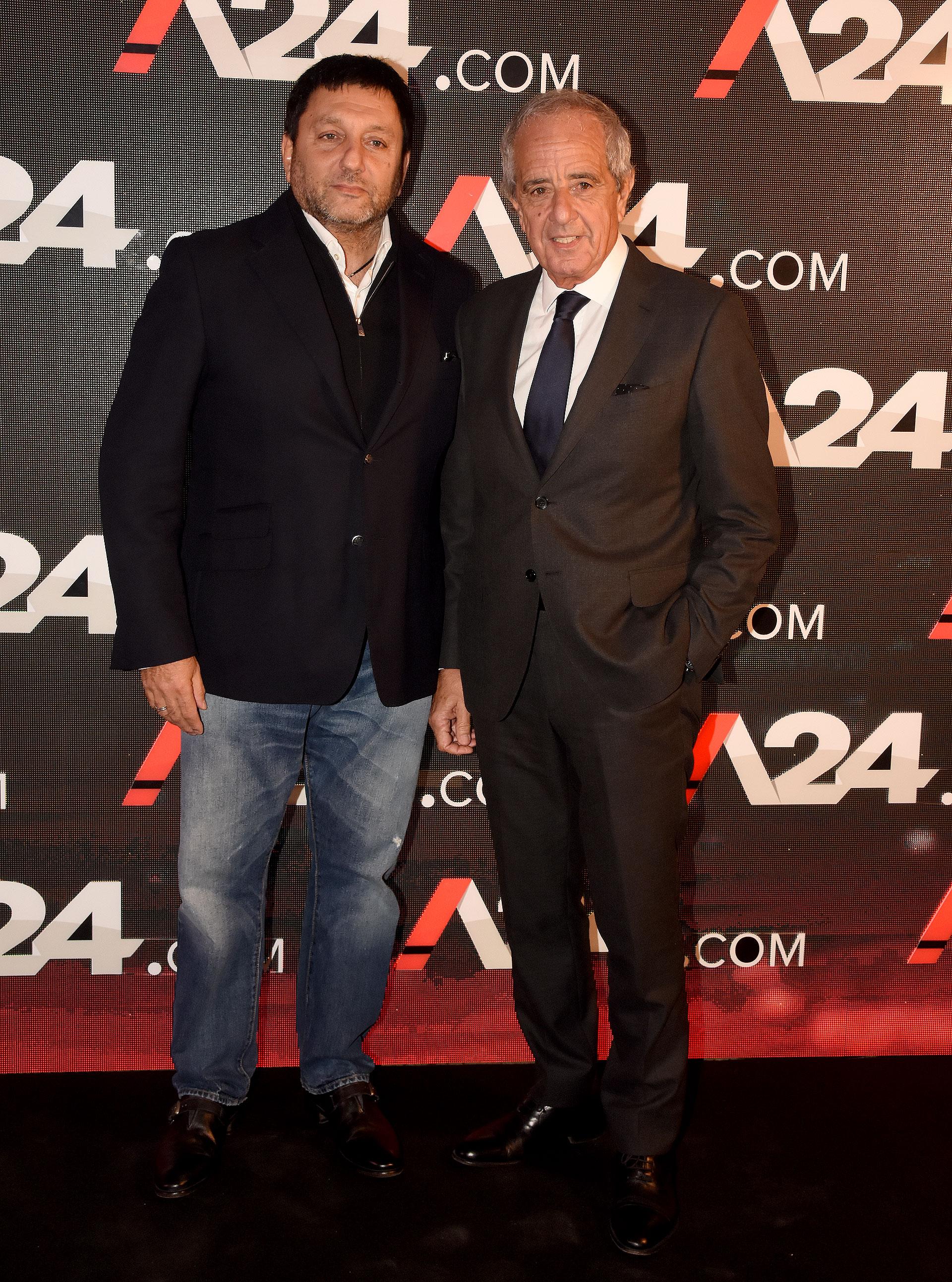 Gabriel Hochbaum y Rodolfo D'Onofrio, presidente de River Plate