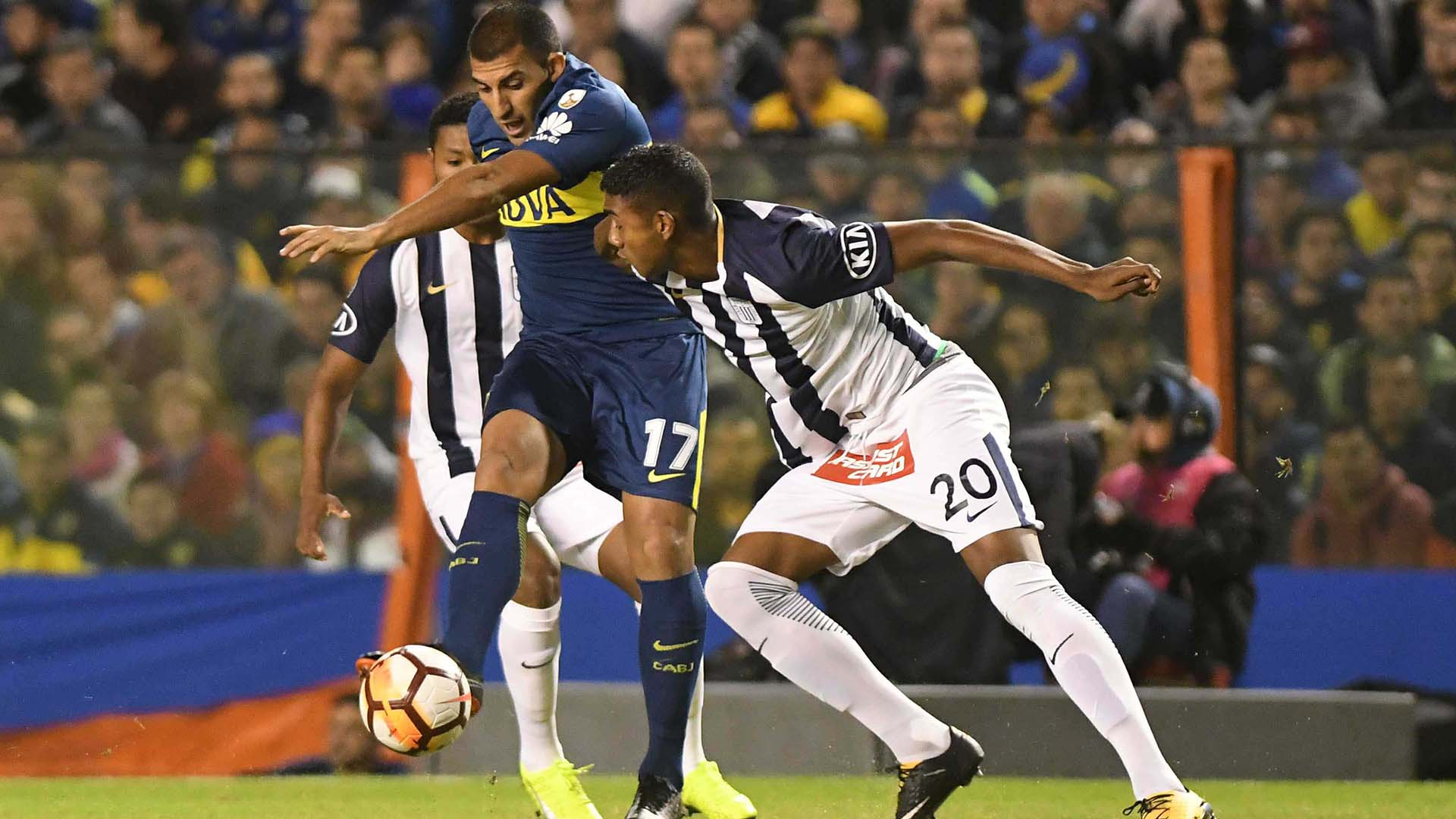 """""""Wanchope"""", intratable: marcó dos goles en la goleada de Boca (Foto: Télam)"""