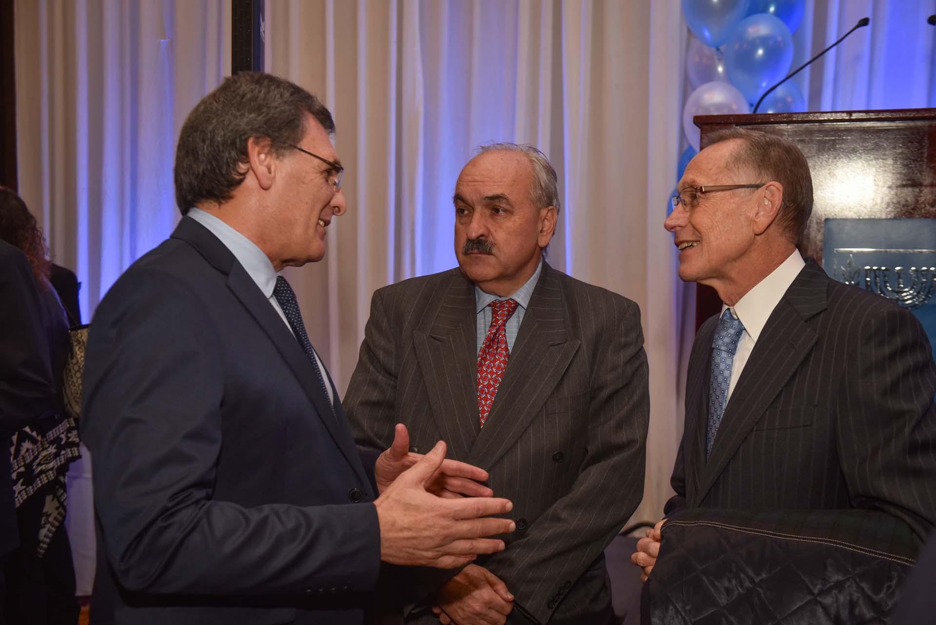 Claudio Avruj, Adalberto Rodríguez Giavarini y Pedro Villagra