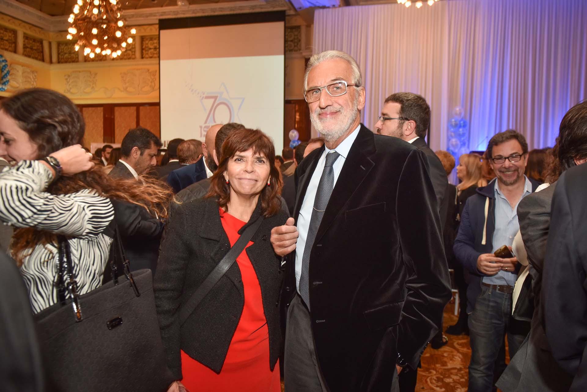 La periodista Silvia Mercado y el fiscal federal Germán Moldes