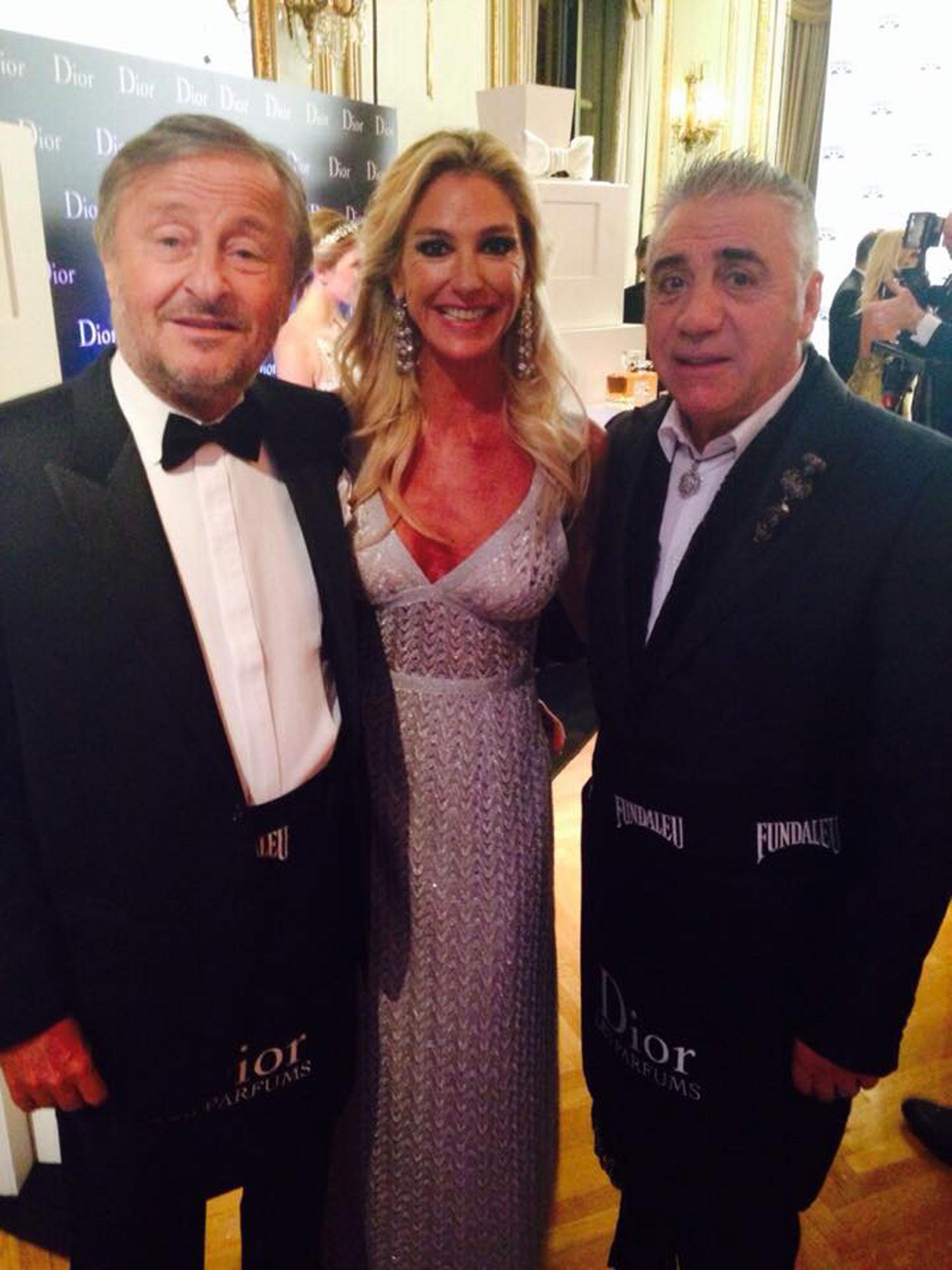 En una cena de Fundaleu junto a Cristiano Rattazzi y su pareja Gabriela Castellani