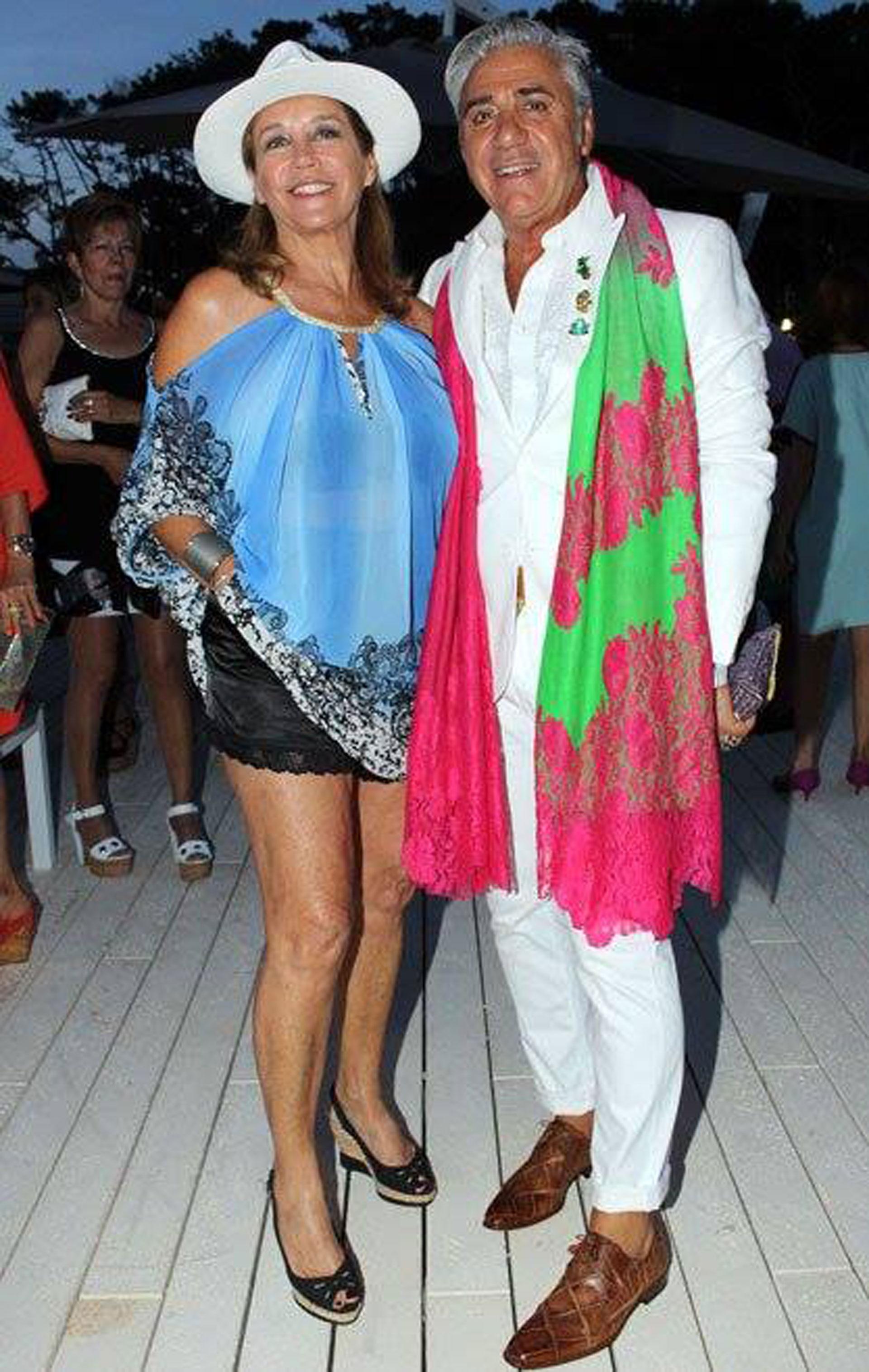Junto a Marcela Tinayre en Punta del Este