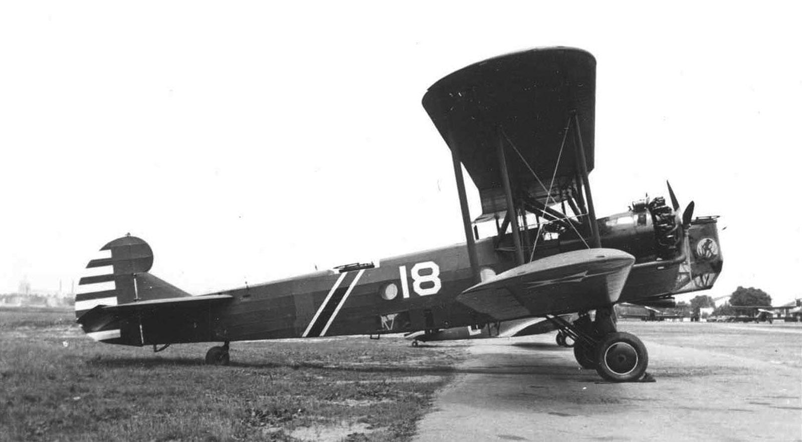 Un Keystone B-3A Bomber como el usado durante el bombardeo sobre el Mauna Loa de Hawaii