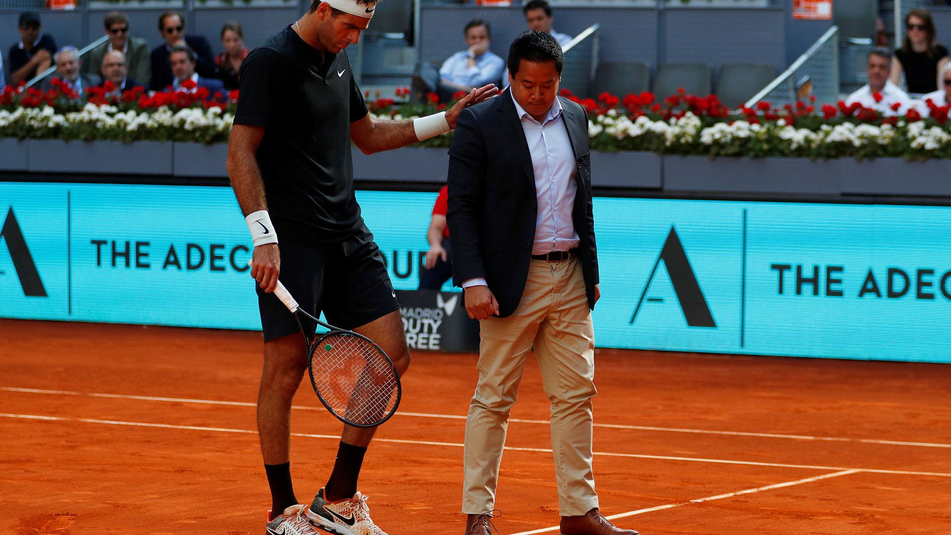 Del Potro se retiró del Masters 1000 de Roma (Foto: Reuters)