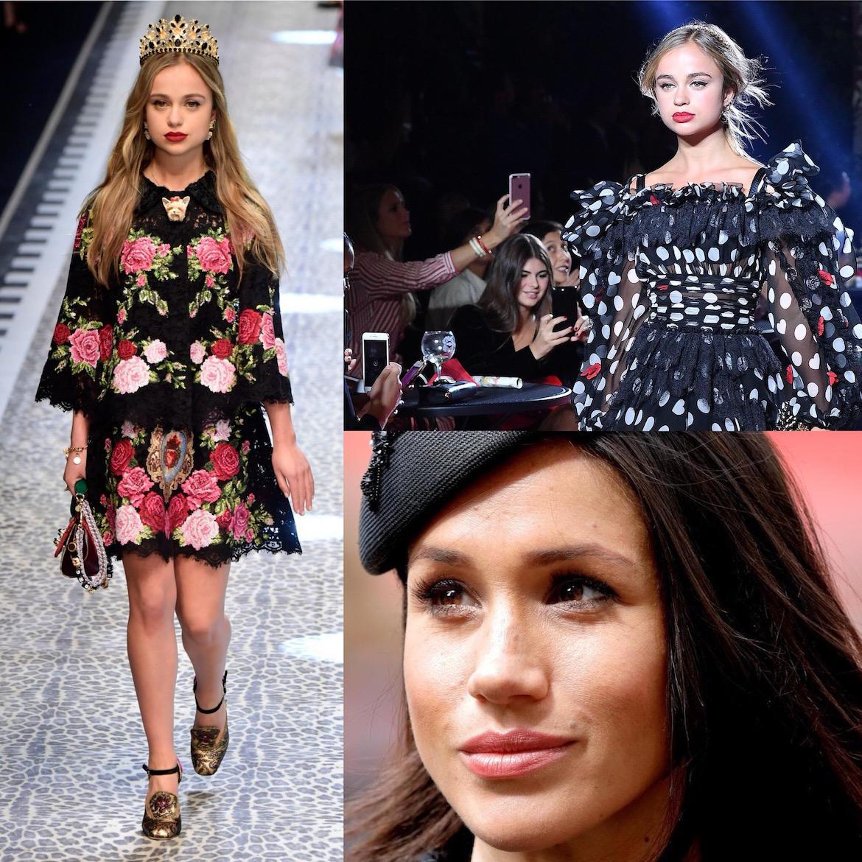 Lady Amelia ha desfilado las pasarelas de Dolce & Gabbana y triunfa como influencer en el mundo de la moda. Fuentes cercanas a la it-girl aseguran que podría haber sido excluida del evento real por temor a que opaque a la novia