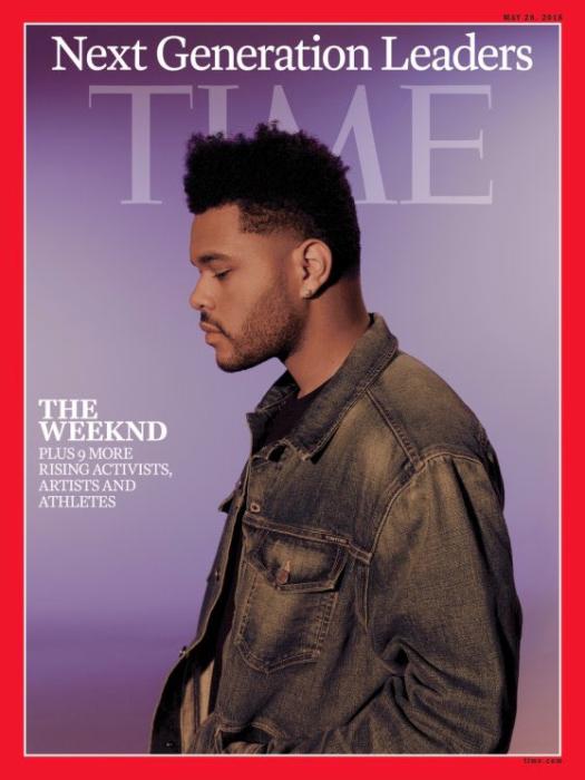 La portada de Time con el músico canadiense The Weeknd (Time Magazine)