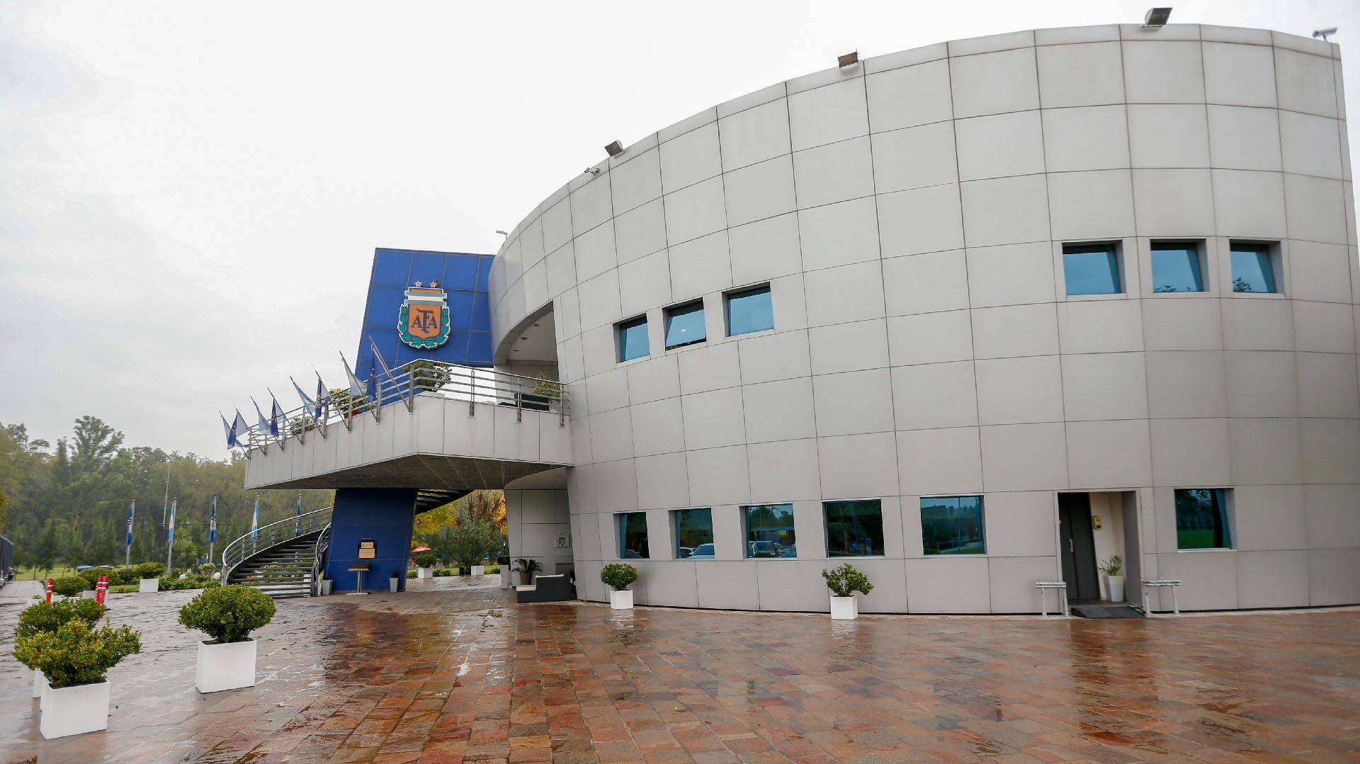 La AFA dispuso de reformas en el complejo nº 2 para que los jugadores de la Selección se preparen de la mejor manera para el Mundial – Fotos: Nicolás Aboaf