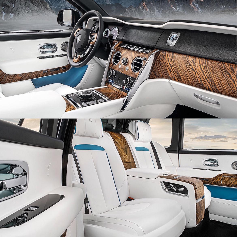 Aquellos menos enfocados en las aptitudes off-road podrán seleccionar el interior en cuero marfíl con detalles en tono azul cielo y maderas exóticas