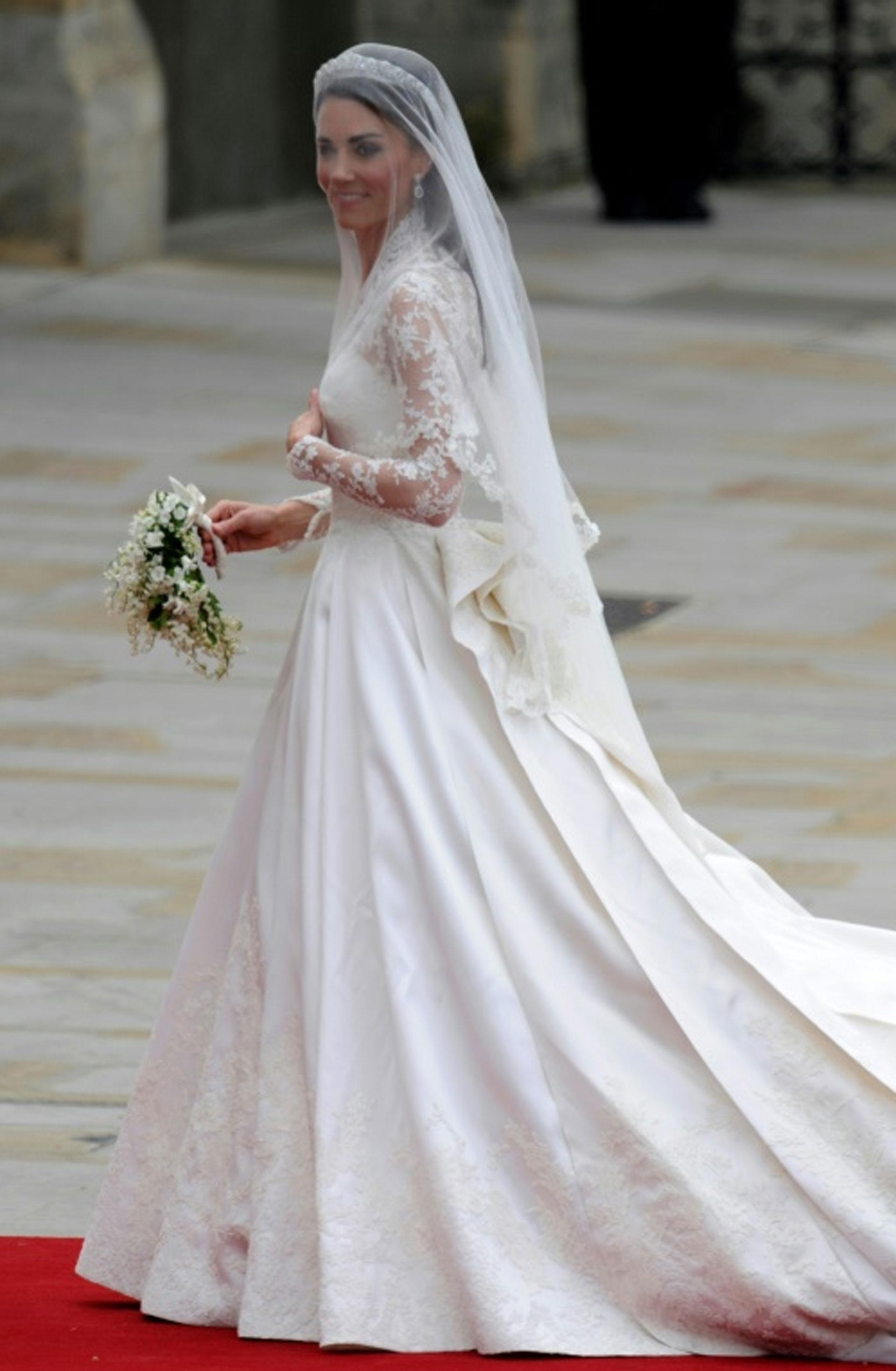 Catalina, duquesa de Cambrige, antes de su boda con el príncipe Guillermo, el 29 de abril de 2011 en Londres (AFP – ODD ANDERSEN)