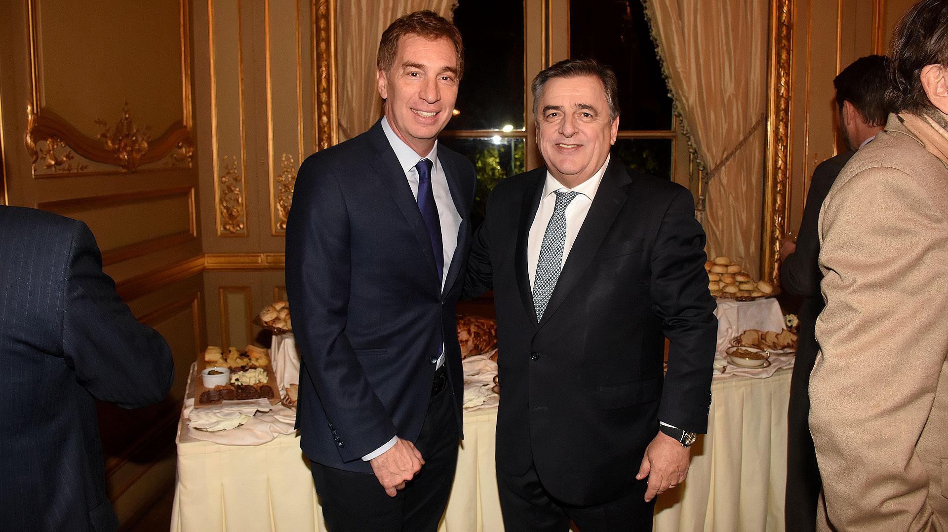 El vicejefe de Gobierno porteño, Diego Santilli, y el diputado Mario Negri