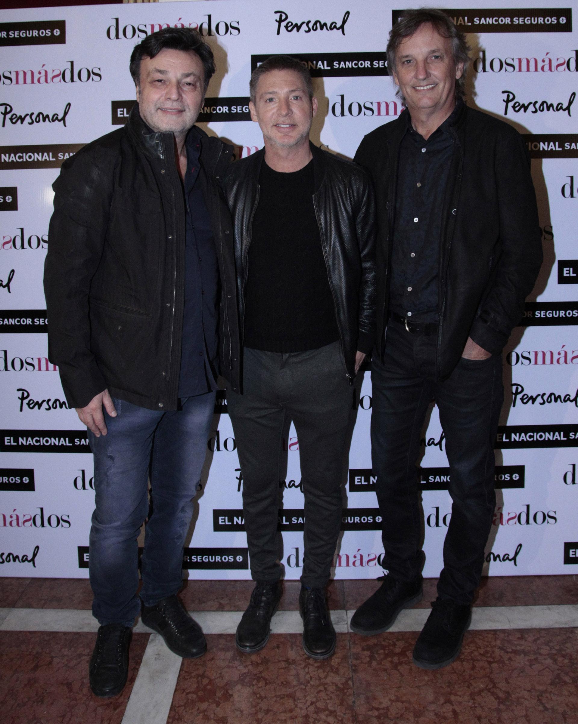 Marcos Carnevale, Adrián Suar y Nacho Laviaguerre (C.Oppizzi)