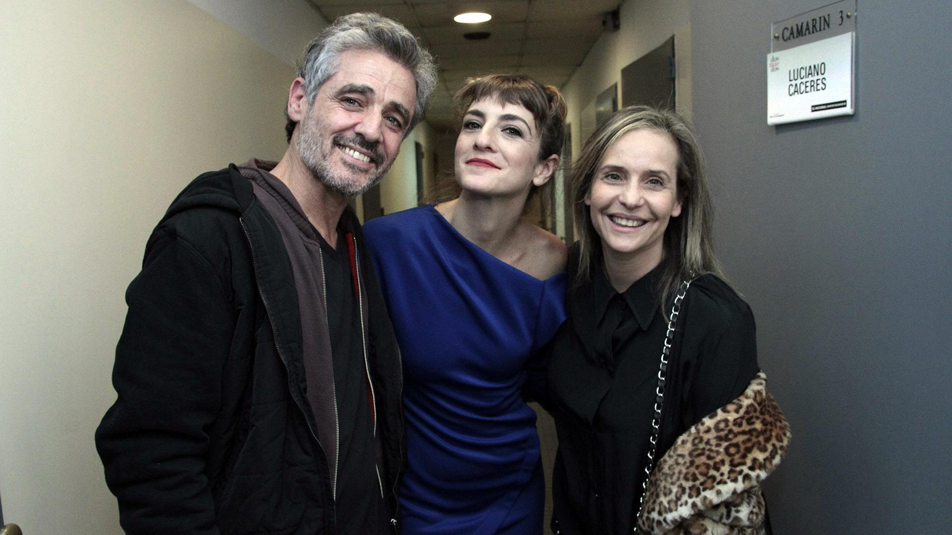 Germán Palacios, Julieta Zylberbberg y Gabriela Toscano (C.Oppizzi)