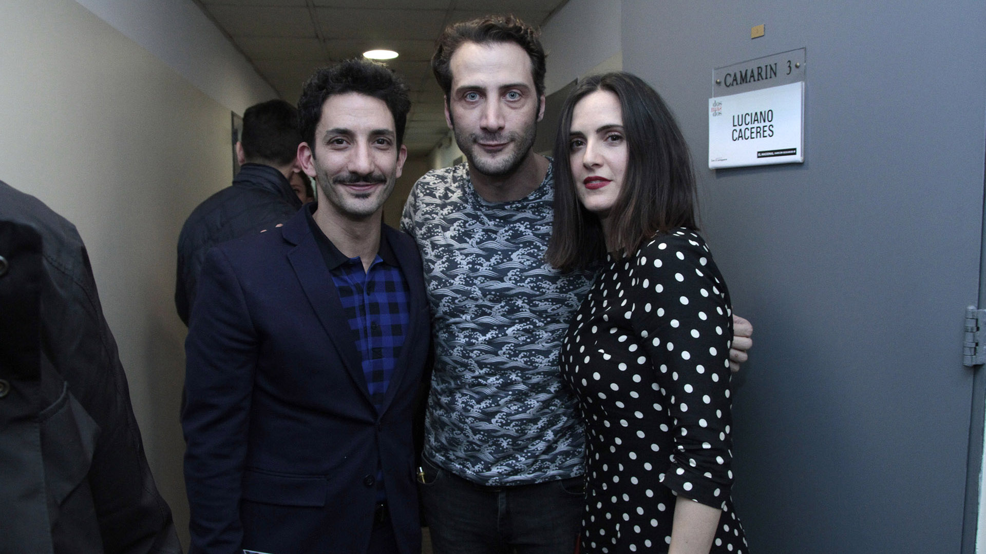 Juan Minujín, Luciano Cáceres y Julieta Díaz (C.Oppizzi)