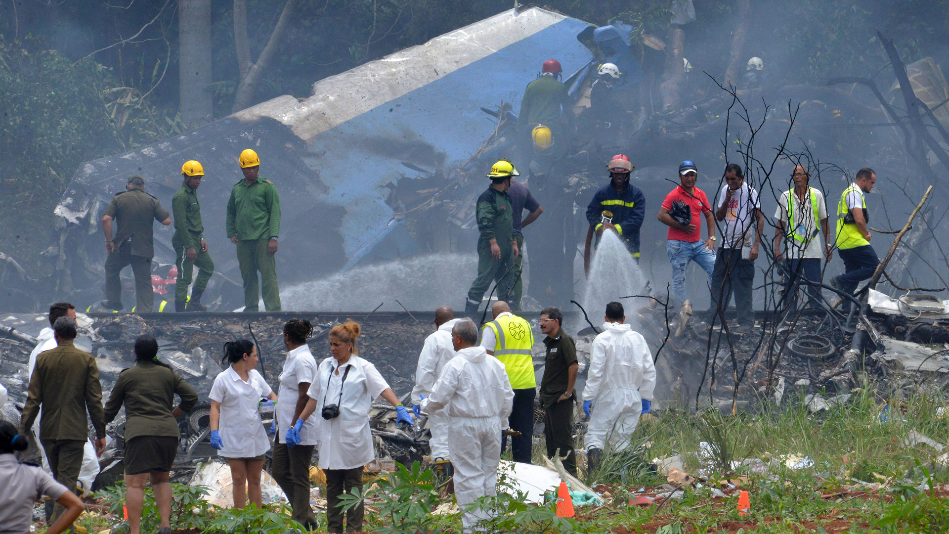 El avión Boeing 737 se estrelló poco después de despegar en La Habana (AFP)