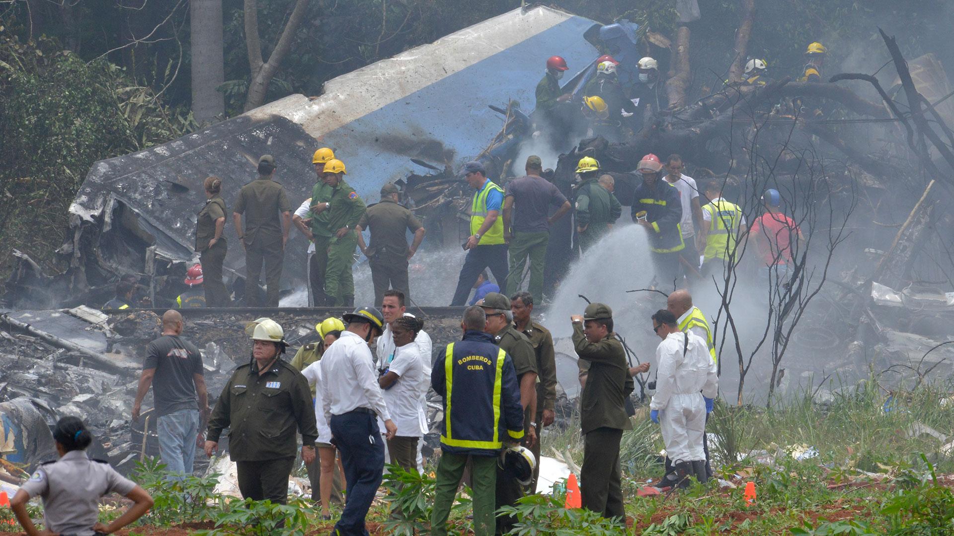 Un Boeing 737 arrendado por Cubana de Aviación se estrelló este viernes a las 12:08 del mediodía en La Habana