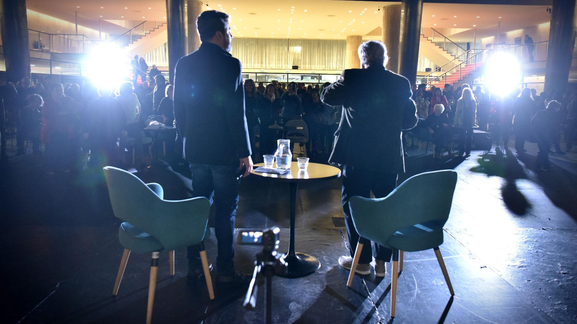 El público presente pudo presenciar una entrevista abierta con el actor