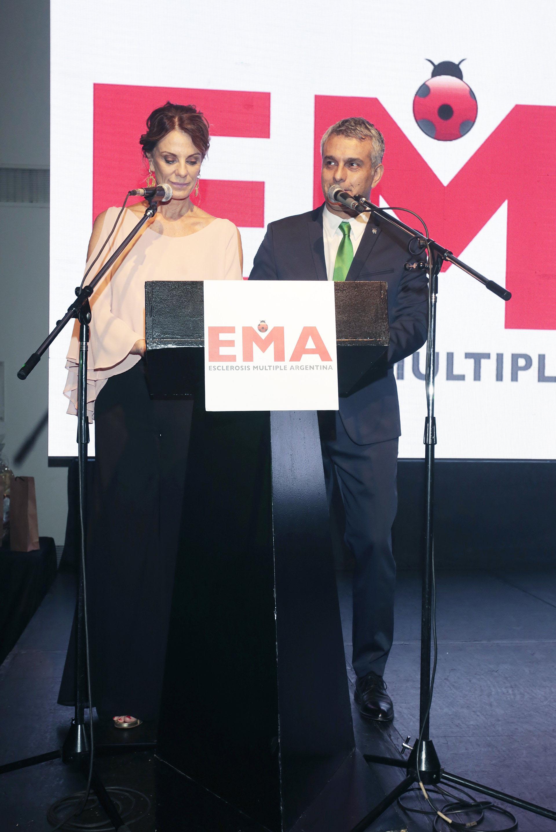 Nequi Galotti y Mario Massaccesi, los conductores de la cena anual a beneficio de EMA