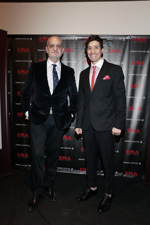 El diseñador Laurencio Adot junto al actor, Damián Romero