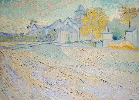 """""""Vue de l'asile et de la Chapelle de Saint-Rémy"""", de Vincent Van Gogh"""