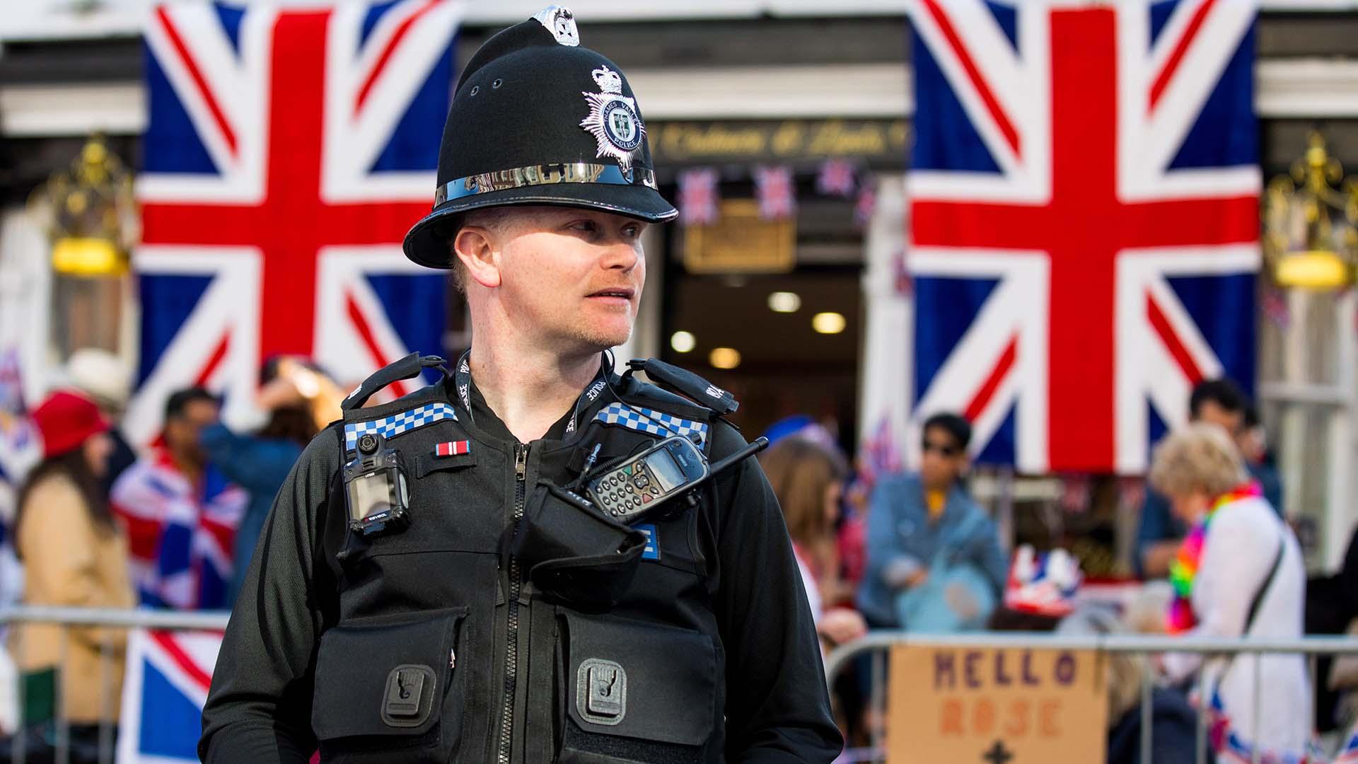Hubo un enorme operativo de seguridad, no solo en la pequeña localidad de Windosr -a 34 kilómetros de Londres- sino también en la capital del Reino Unido (EFE)