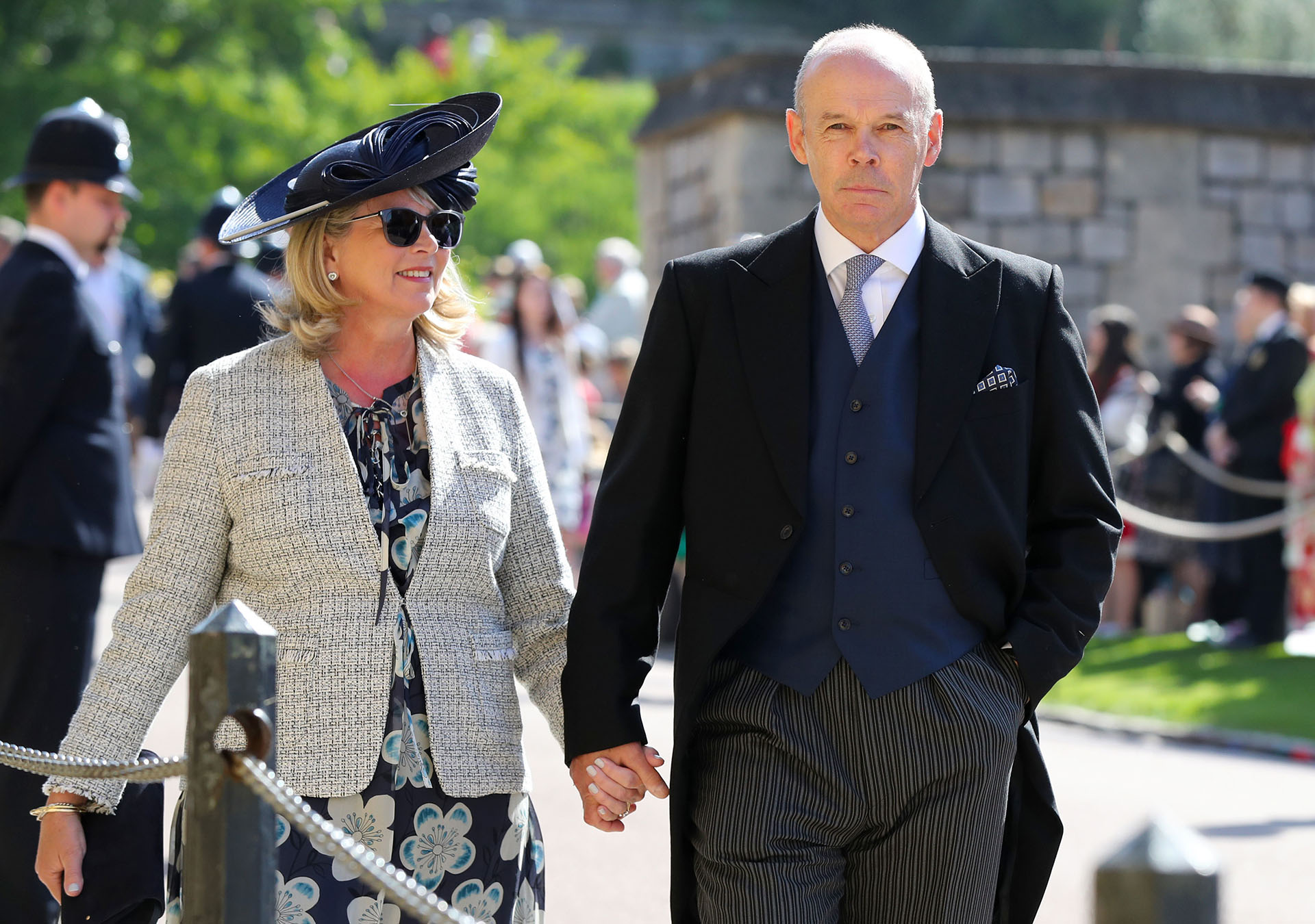 El ex coach de rugby, Clive Woodward y Jayne Williams (AFP)