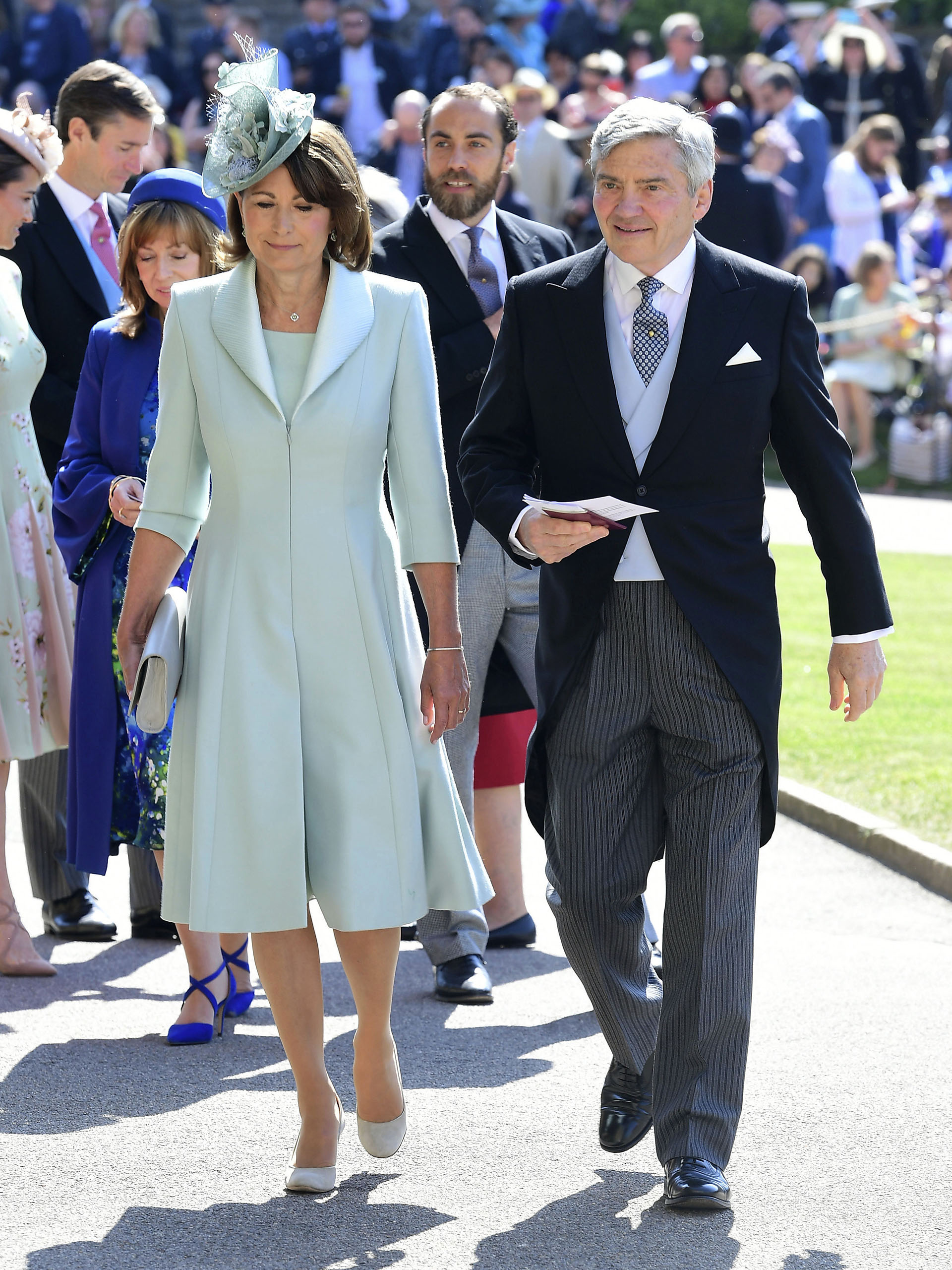 Carol y Michael Middleton, padres de Kate (AP)
