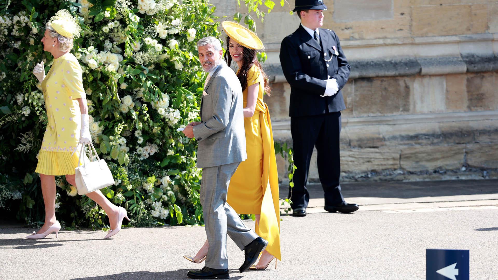 George y Amal Clooney, espléndidos (EFE)