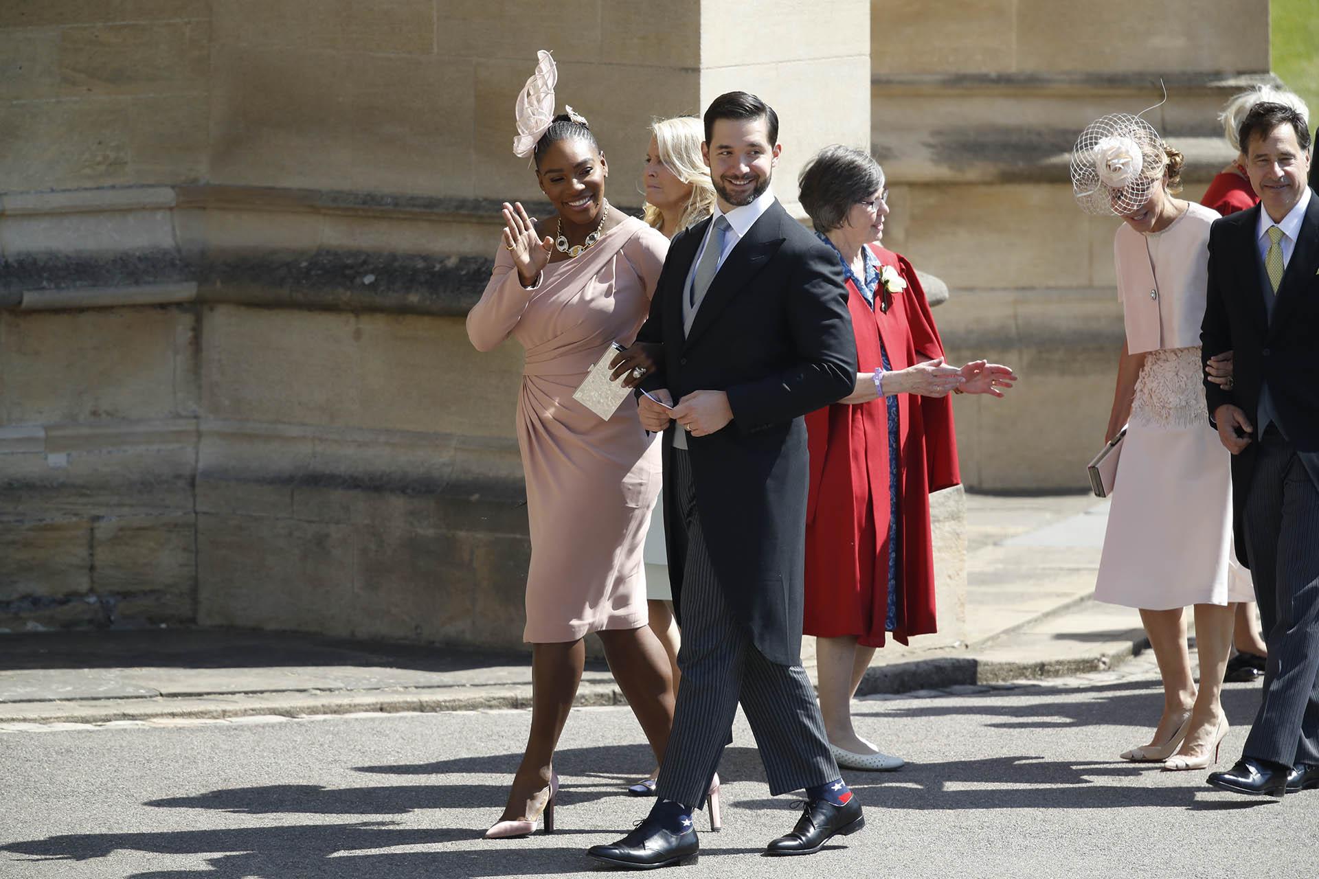 Serena Williams y su marido, Alexis Ohanian (AP)