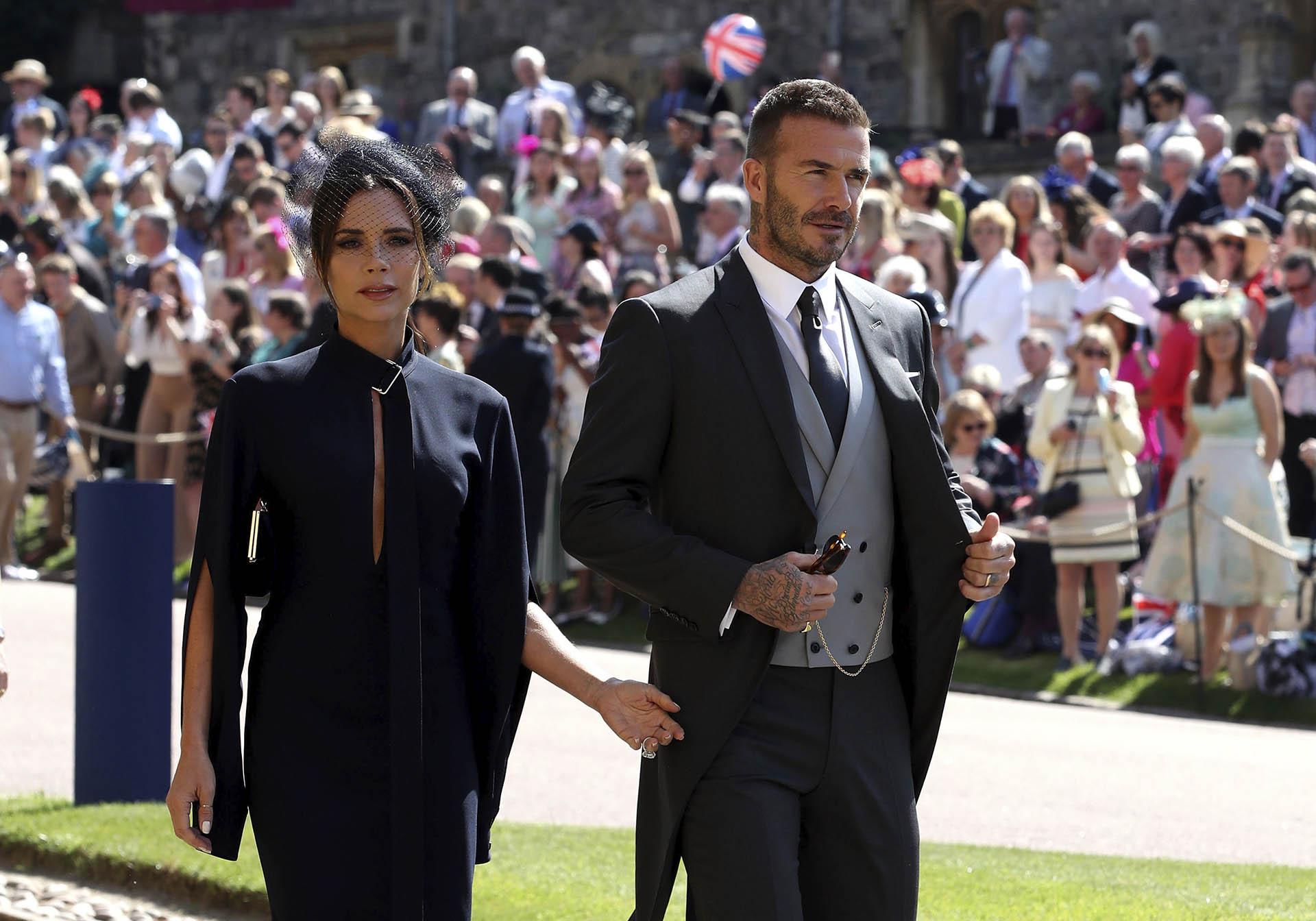 David y Victoria Beckham (AP)