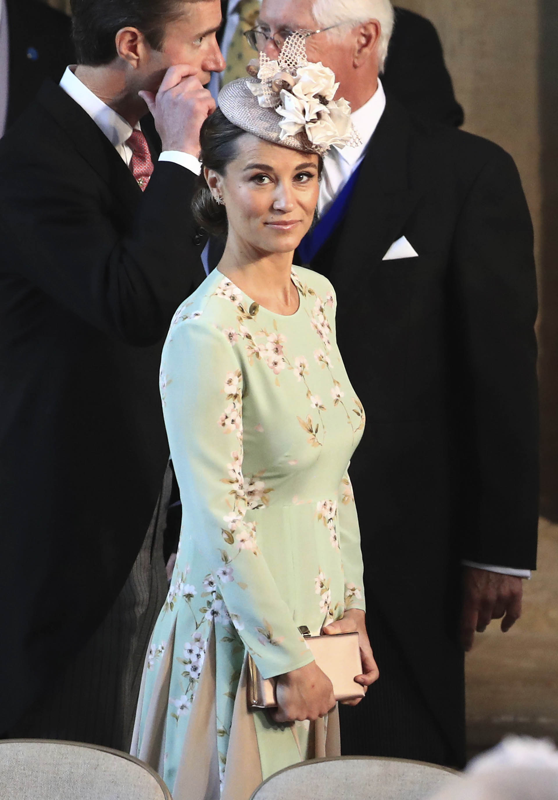 Pippa Middleton, embarazada,lució un vestido de la firma The Fold Londonde 566 euros (AP)