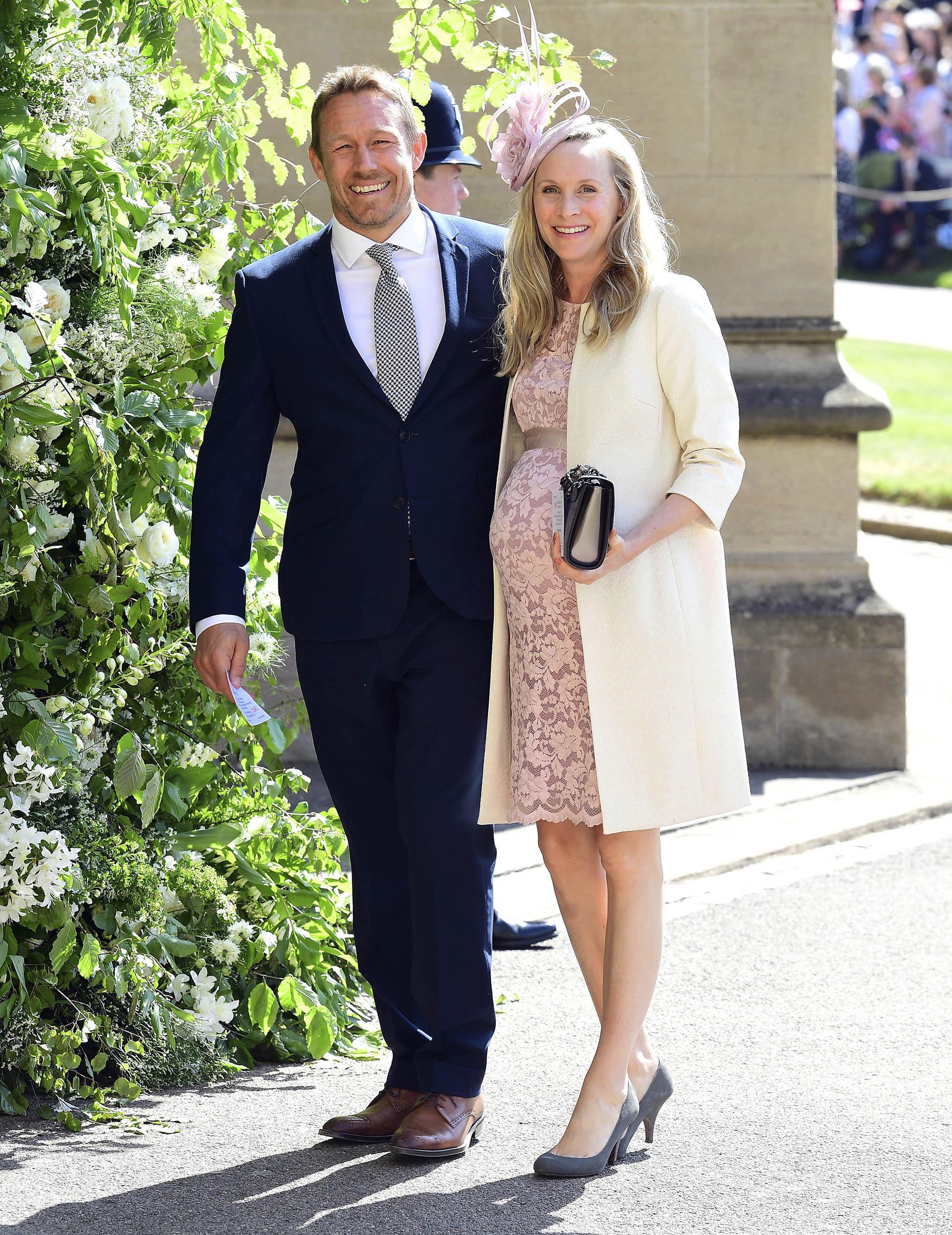 El rugbier Jonny Wilkinson y su pareja Shelley Jenkins (AP)