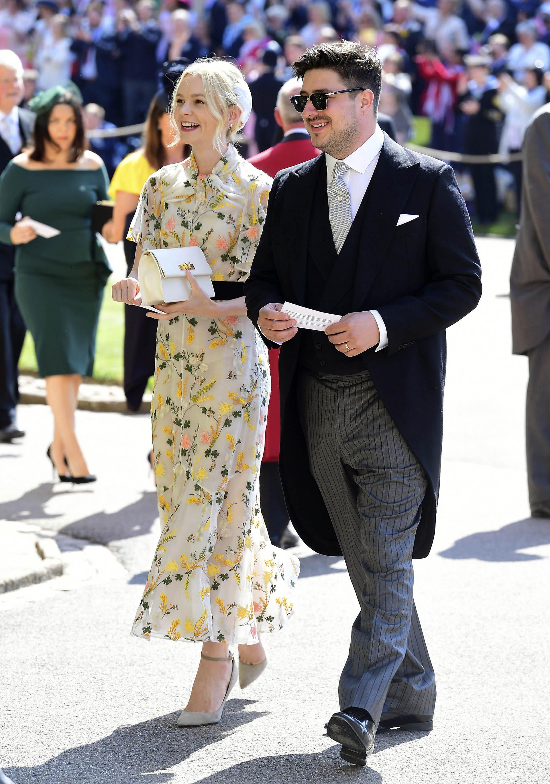 El rocker y la actriz, Marcus Mumford y Carey Mulligan (AP)