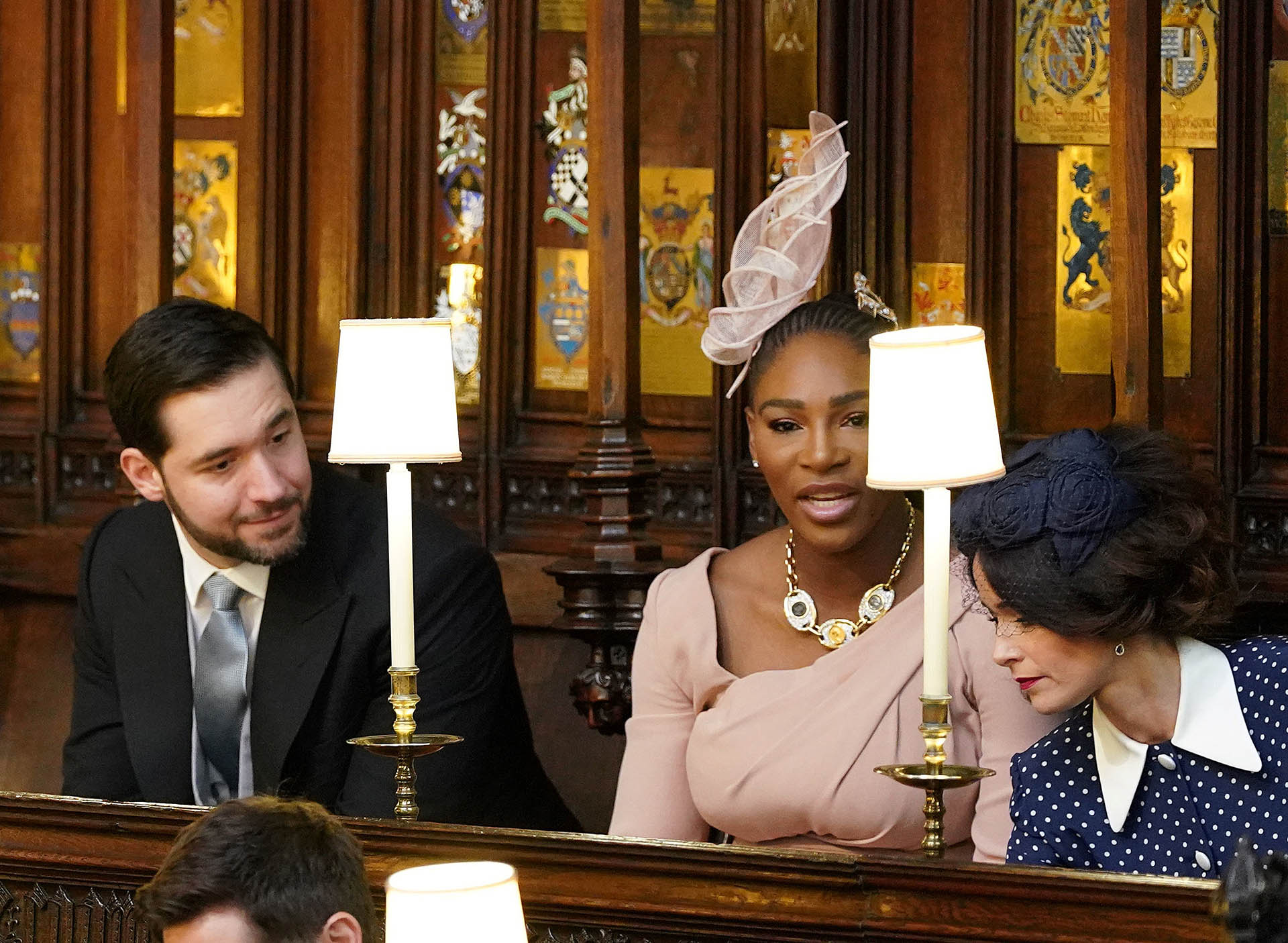 Serena Williams, invitada por la novia (AFP)