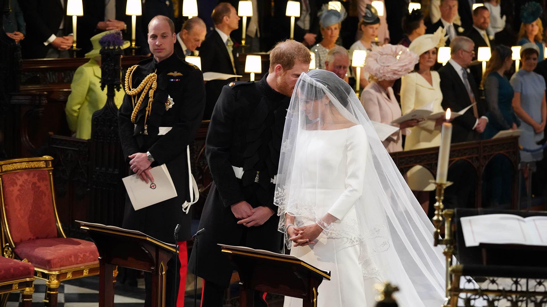 Harry se mostró enamorado, feliz y divertido (AFP)