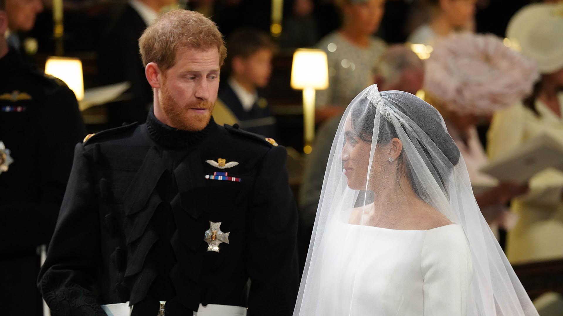 El arzobispo de Canterbury fue quien oficióla parte central del casamiento (AFP)