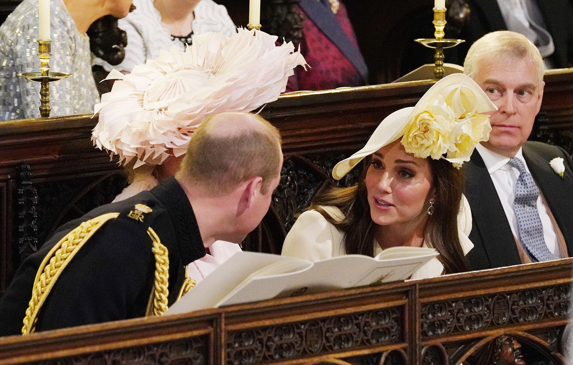 Kate y William minutos antes de la ceremonia que convocó a 600 invitados (AFP)