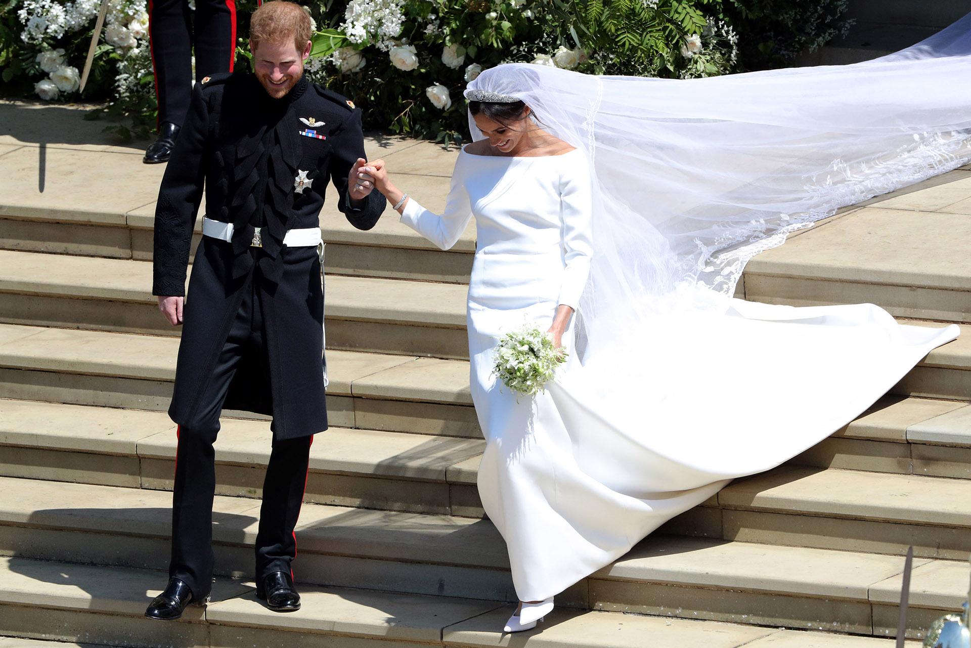 """""""Te ves increíble"""" le dijo el príncipe a Meghan (AFP)"""