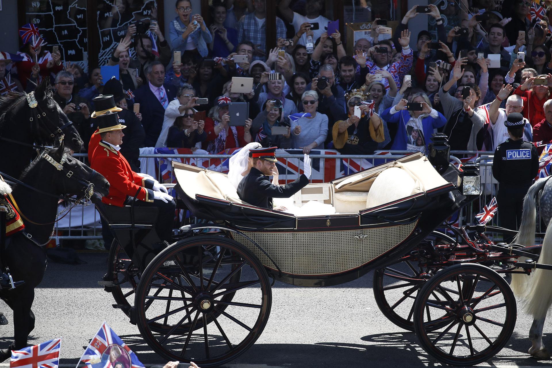 La segunda fiesta, por la noche, se celebra enFrogmore House -una espectacular residencia de la familia real- y es solopara 200 exclusivos invitados (AFP)