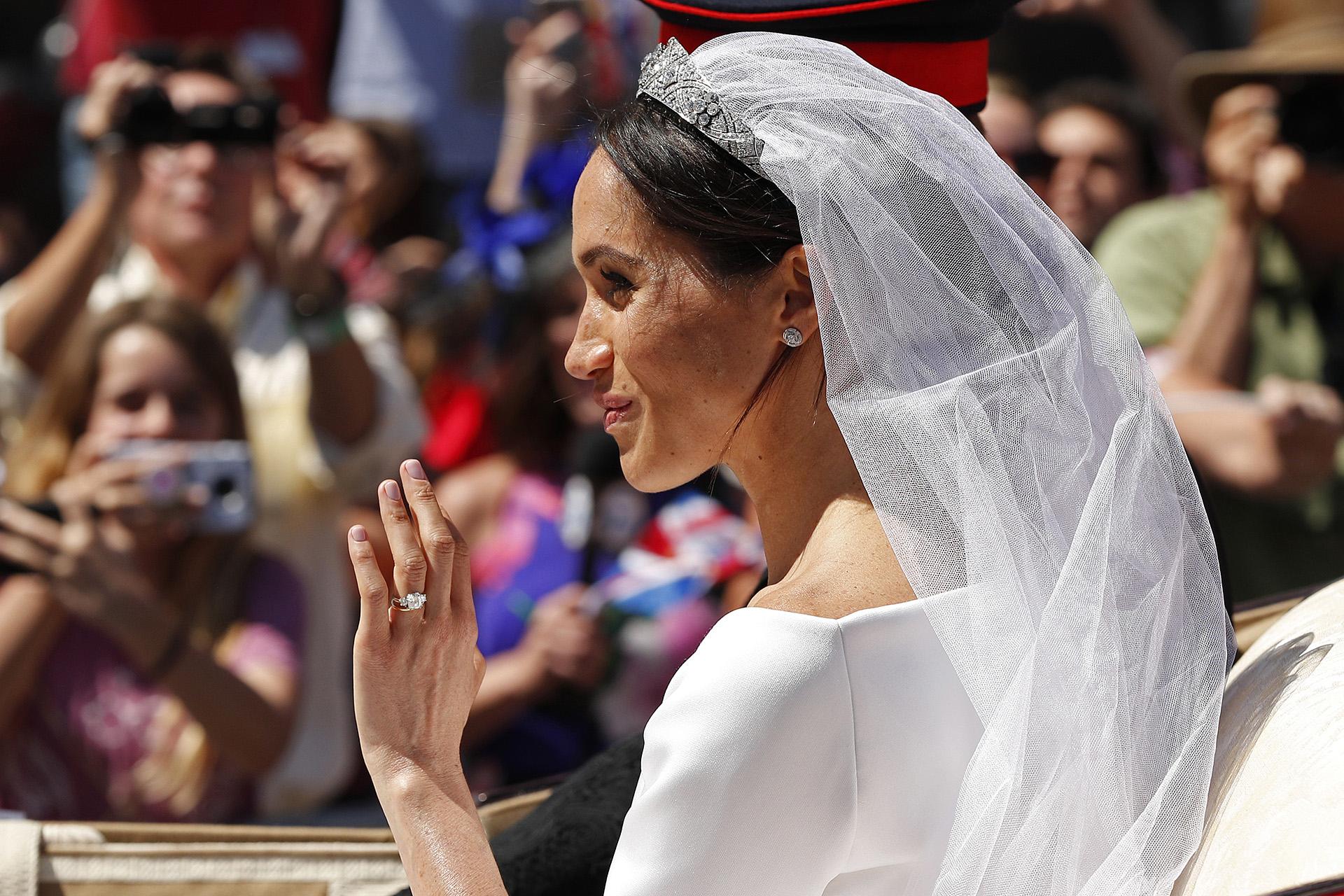 Para Meghan es el inicio de una nueva vida. Para casarse con Harry aceptó cambiar de religión: dejó el judaísmo y se convirtió al anglicanismo luego de ser bautizada y confirmada por el Obispo de Canterbury (AFP)
