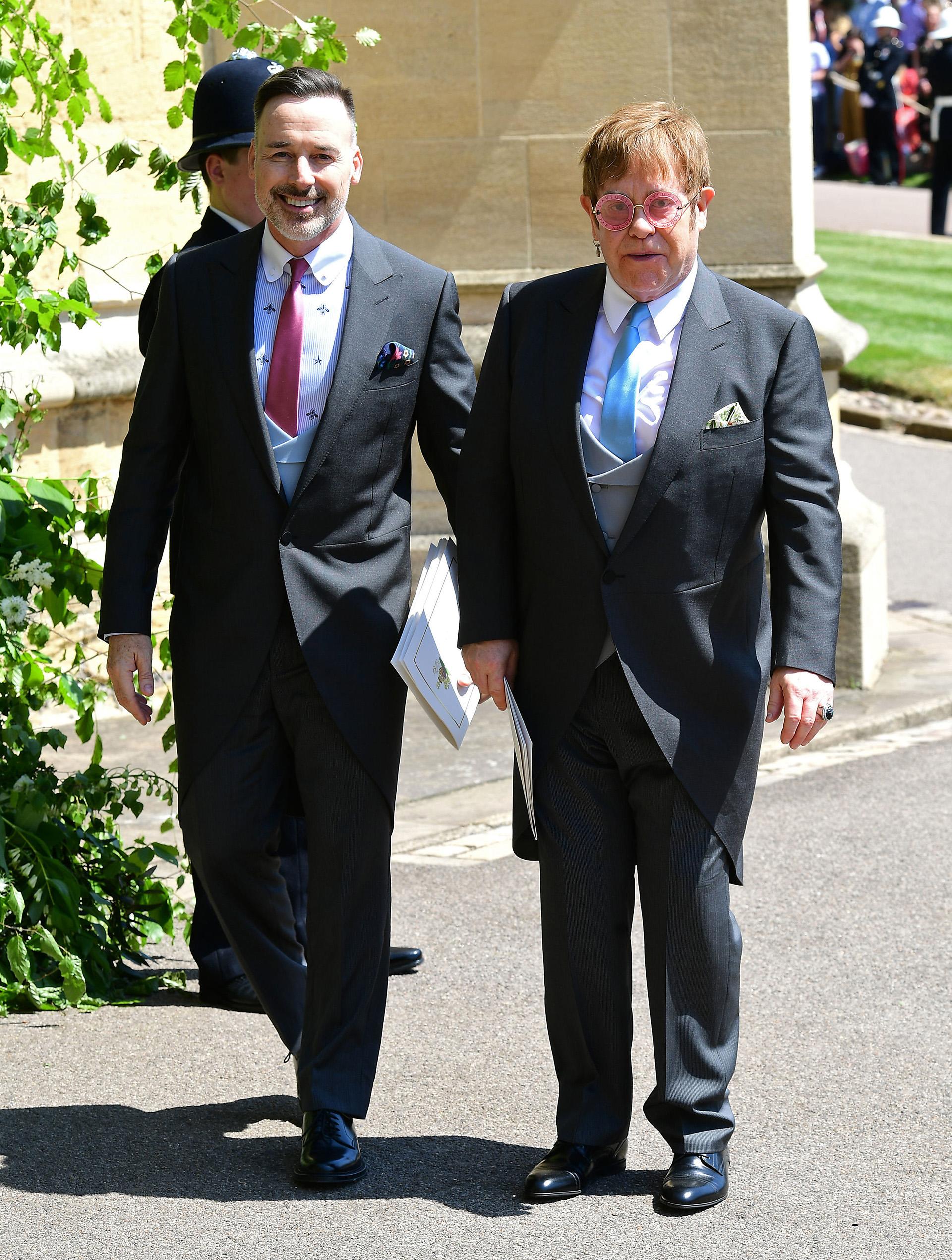 Elton John y su marido, David Furnish (AFP)