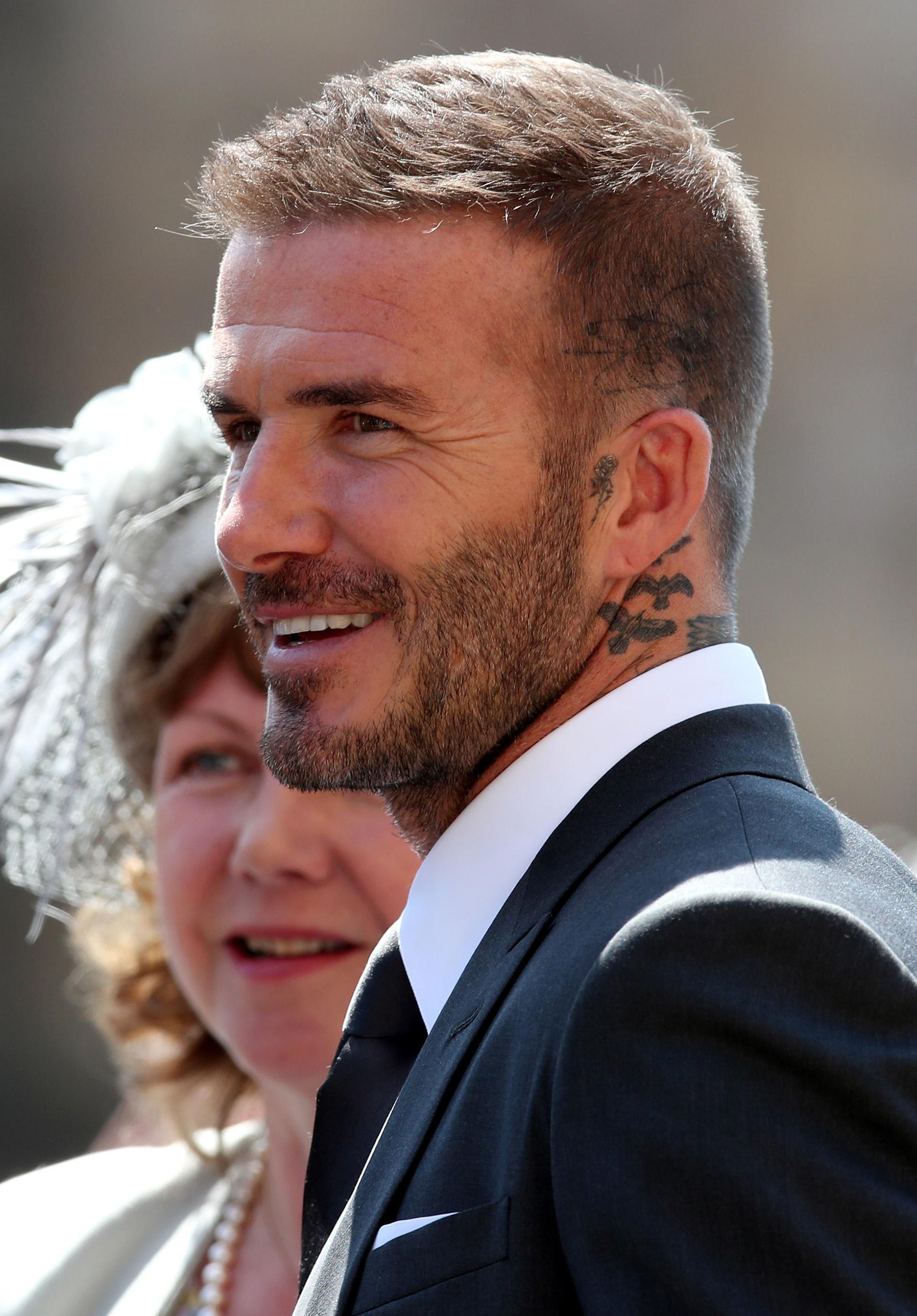 David Beckham, un invitado habitual a las bodas de la realeza británica (AFP)