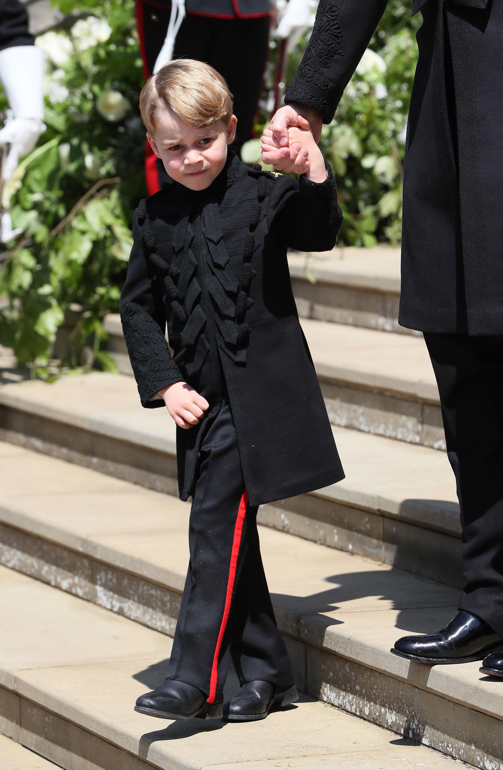 George se lució con un saco de gala (AFP)